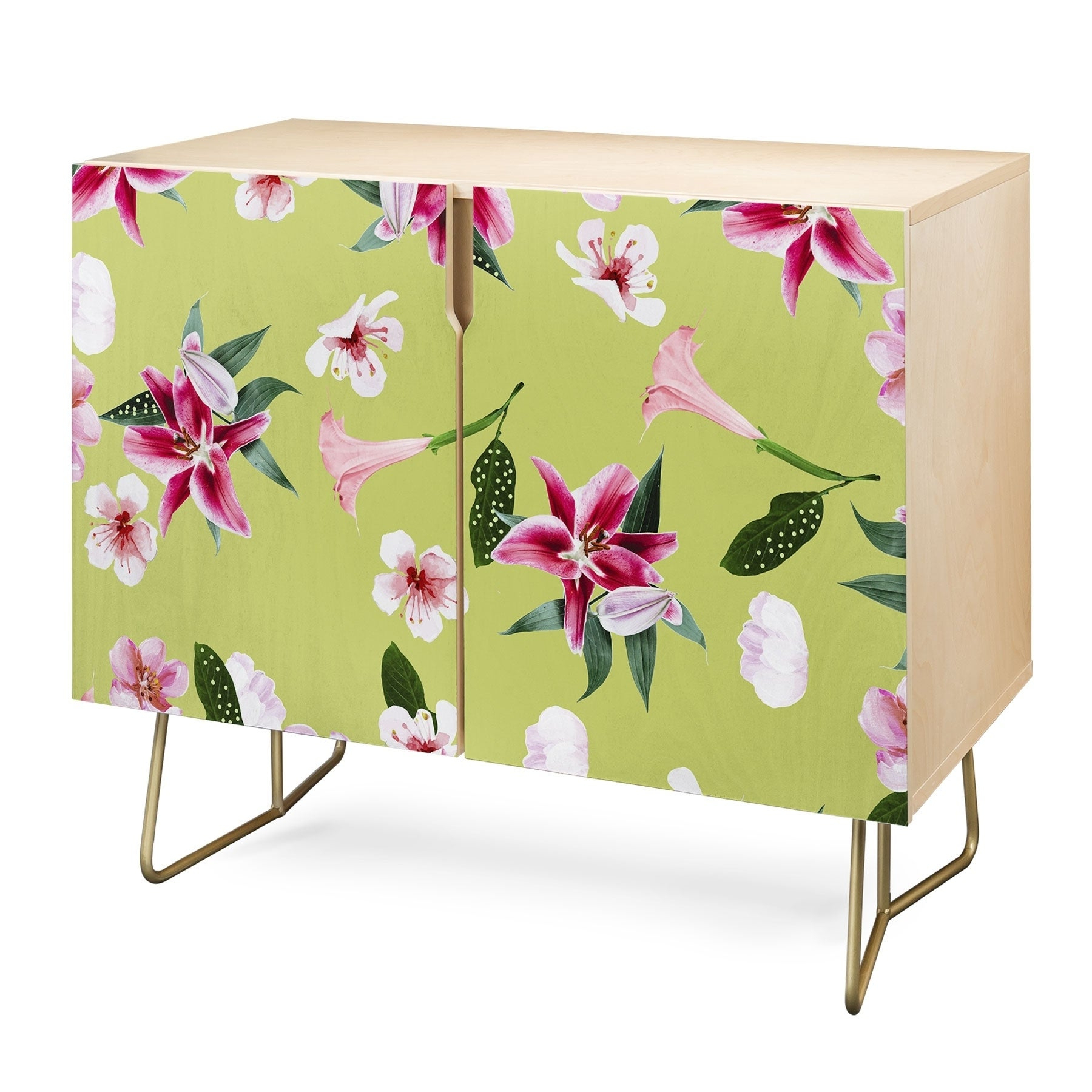 Deny Designs Oenomel Credenza (Birch Or Walnut, 2 Leg Options) Within Oenomel Credenzas (View 14 of 20)