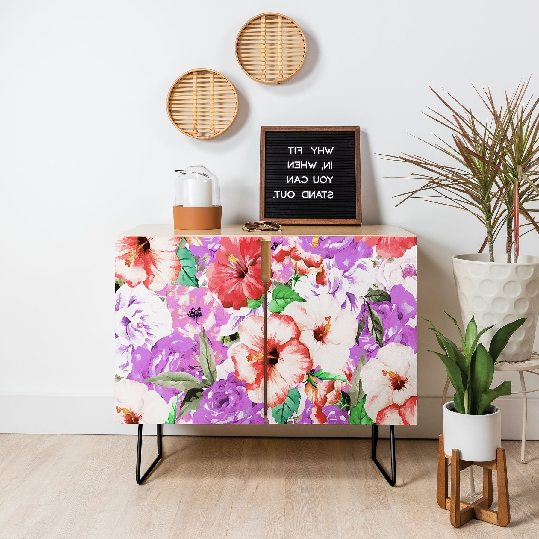 Featured Photo of Purple Floral Credenzas