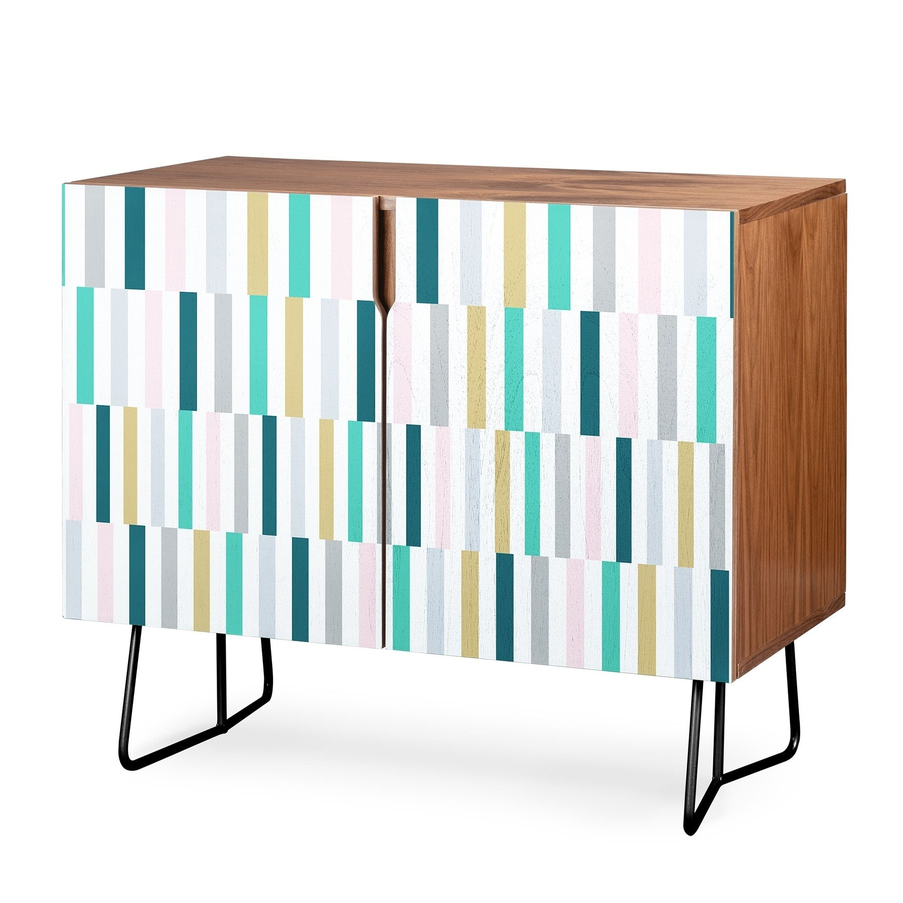 Deny Designs Scandi Stripes Credenza (Birch Or Walnut, 2 Leg Options) Within Festival Eclipse Credenzas (View 8 of 20)