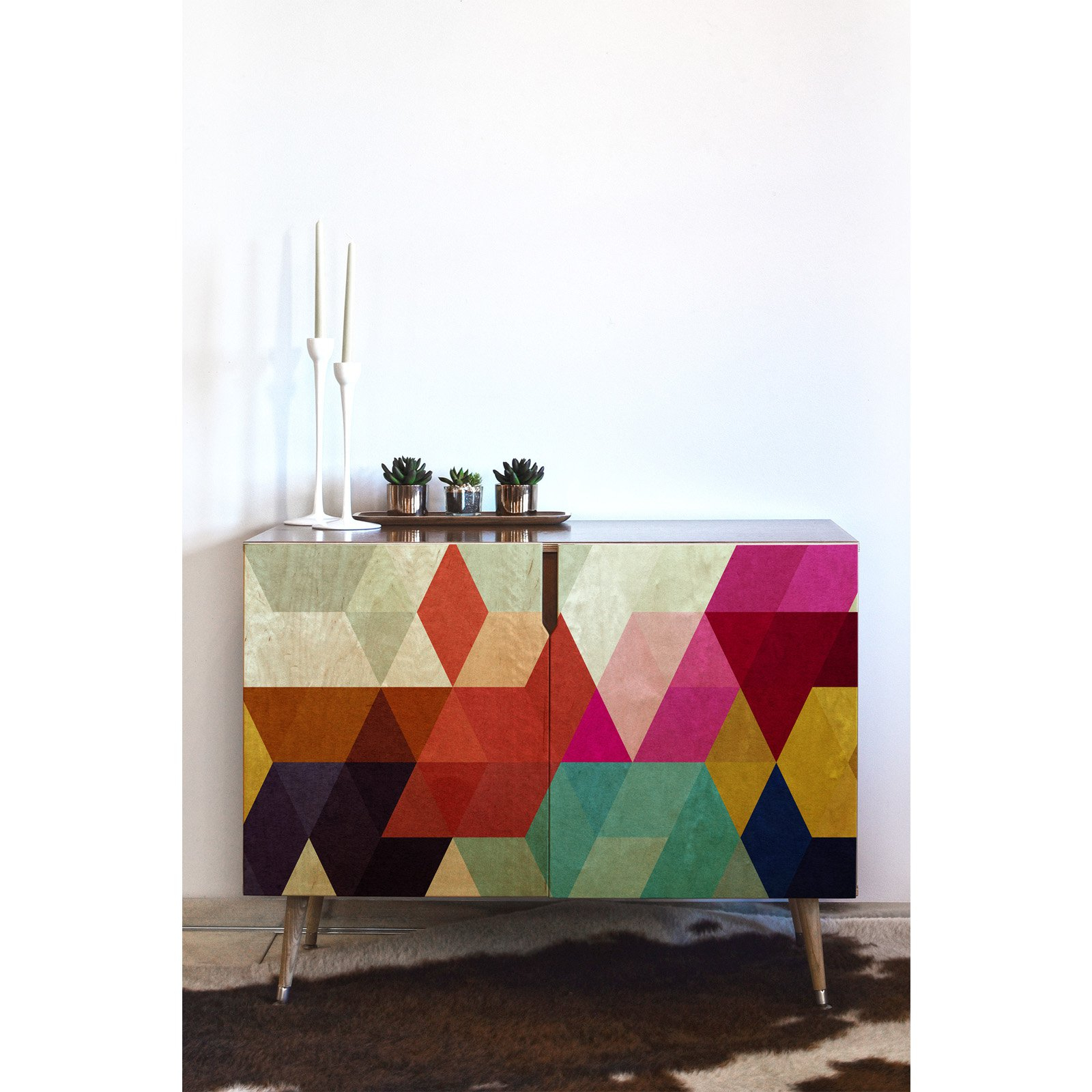 Deny Designs Three Of The Possessed Modele 7 Credenza In Regarding Modele 7 Geometric Credenzas (View 10 of 20)