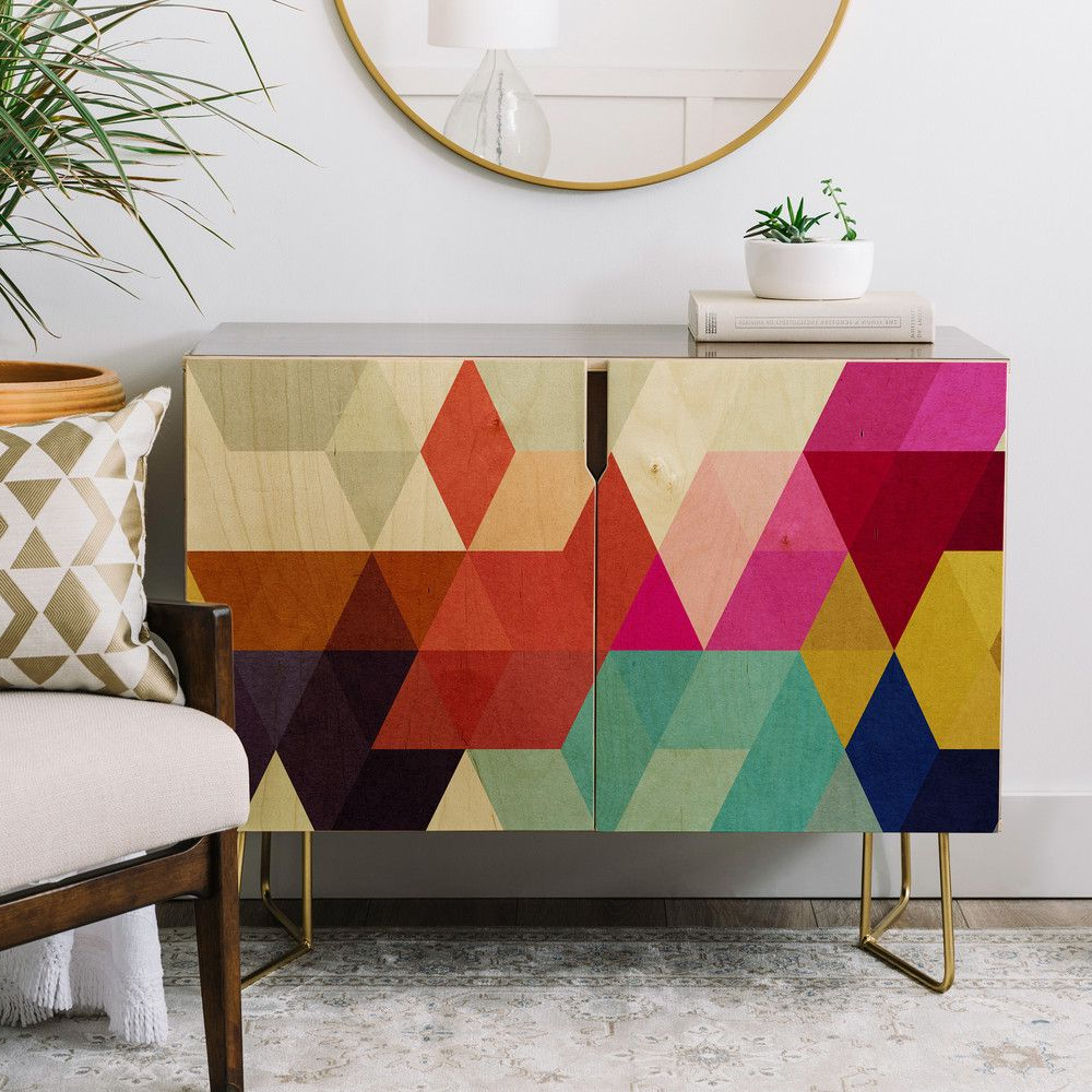 Deny Designs Three Of The Possessed Modele 7 Credenza Intended For Modele 7 Geometric Credenzas (View 11 of 20)