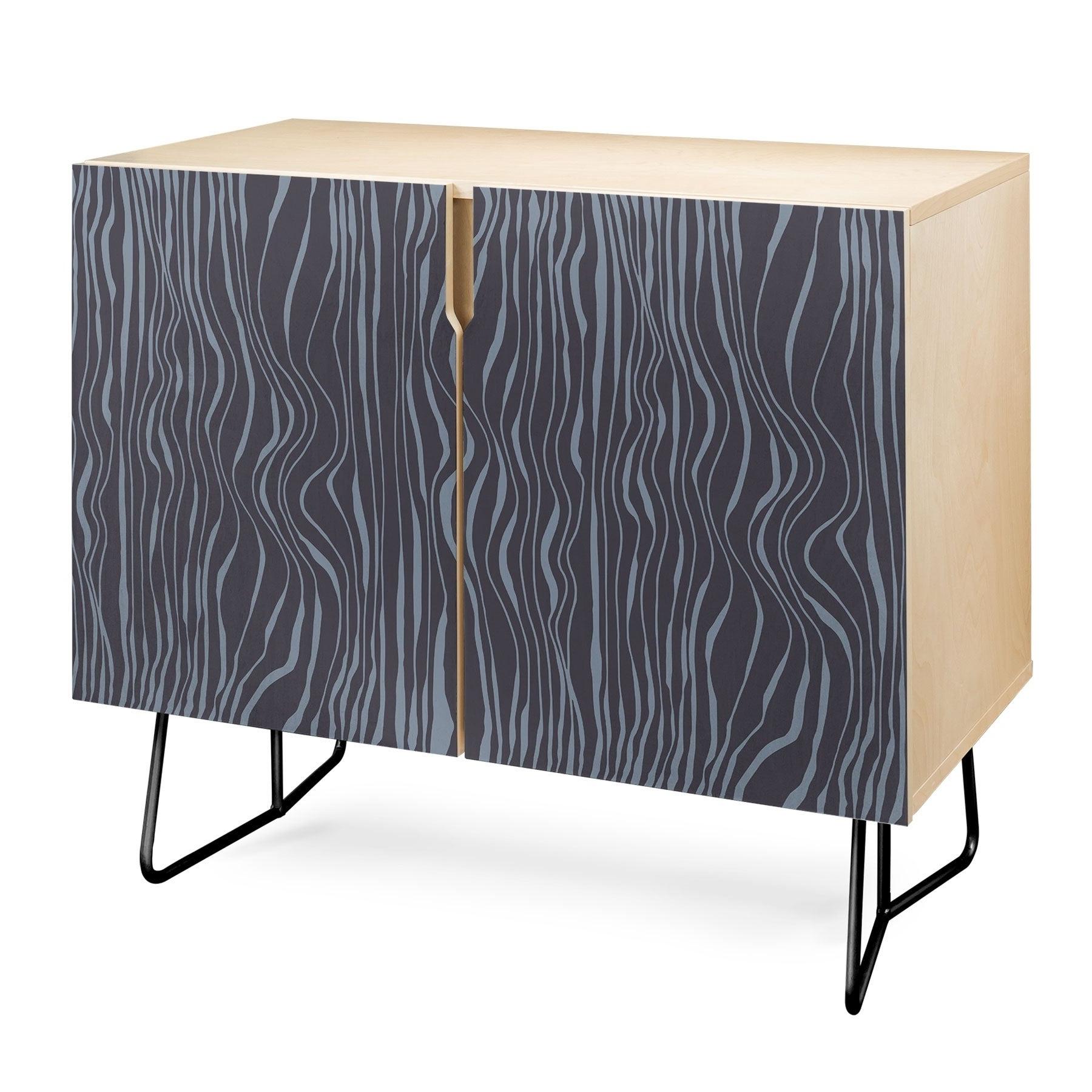 Deny Designs Wavy Stripes Credenza (birch Or Walnut, 2 Leg Options) Within Multi Stripe Credenzas (View 12 of 20)