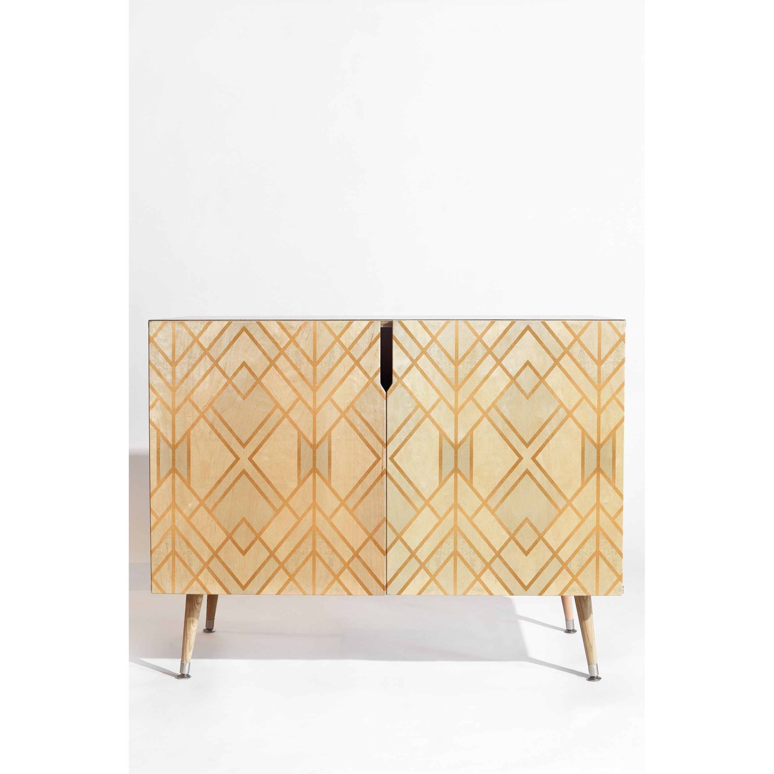 Deny Designs White Geometric Wood Credenza In 2019 | Home With Modele 7 Geometric Credenzas (View 12 of 20)