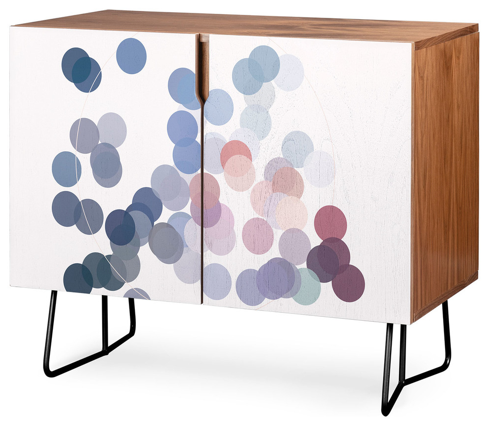 Deny Designs Wink Wink Credenza, Walnut, Black Steel Legs With Turquoise Skies Credenzas (View 9 of 20)