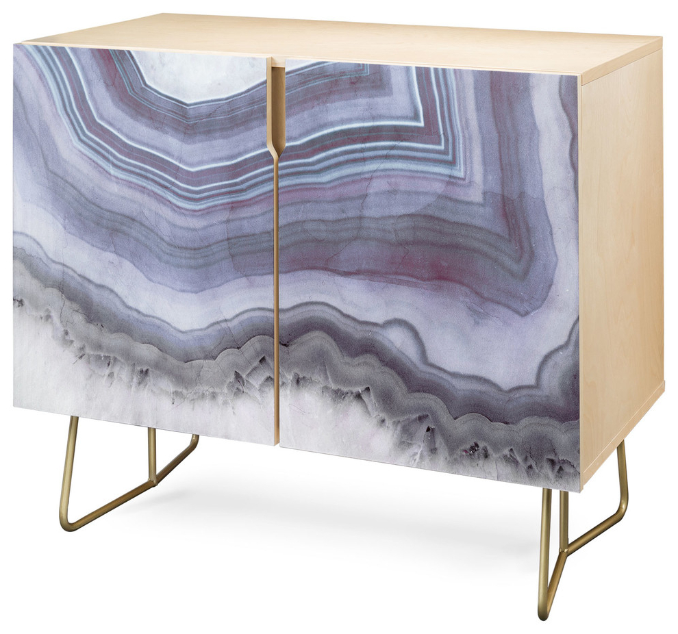 Deny Designs Winter Agate Credenza, Birch, Gold Steel Legs Within Botanical Harmony Credenzas (View 11 of 20)