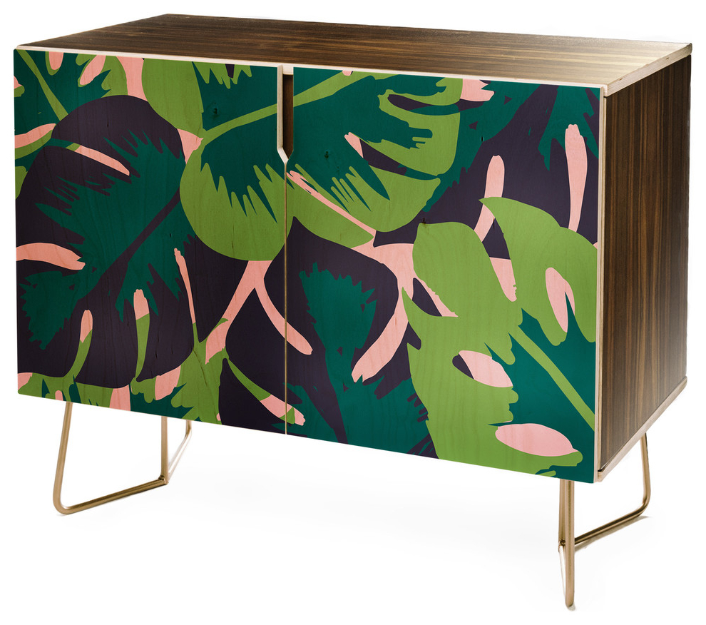 Deny Designs Zoe Wodarz Patio Party Credenza Intended For Floral Blush Yellow Credenzas (View 15 of 20)