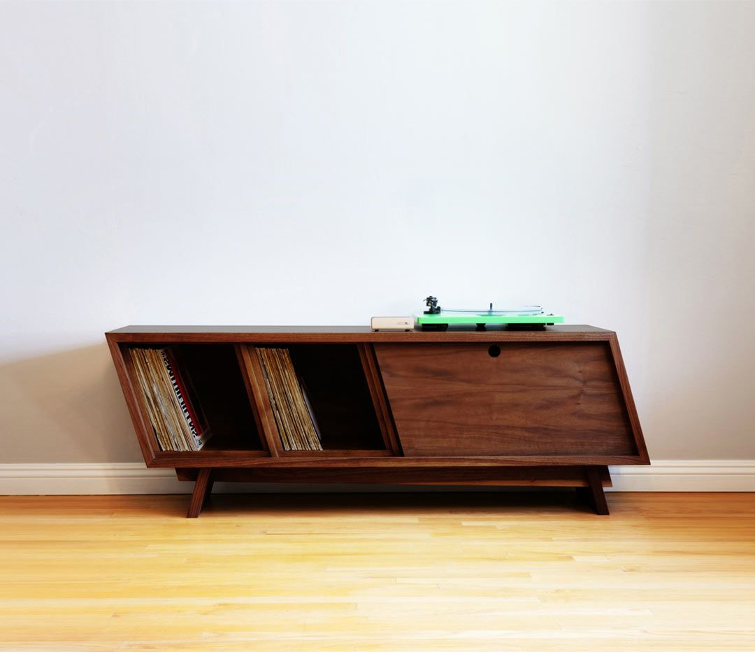 Designing And Building A Modern Record Player Console Pertaining To Wooden Deconstruction Credenzas (View 8 of 20)