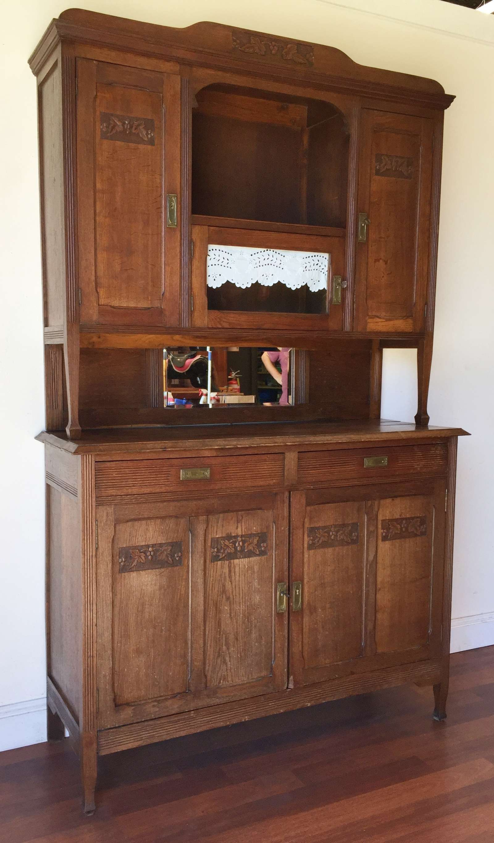 Details About Antique French Art Deco Oak Dresser Buffet Sideboard Carved –  Ok142 Within French Oak Buffets (View 12 of 20)