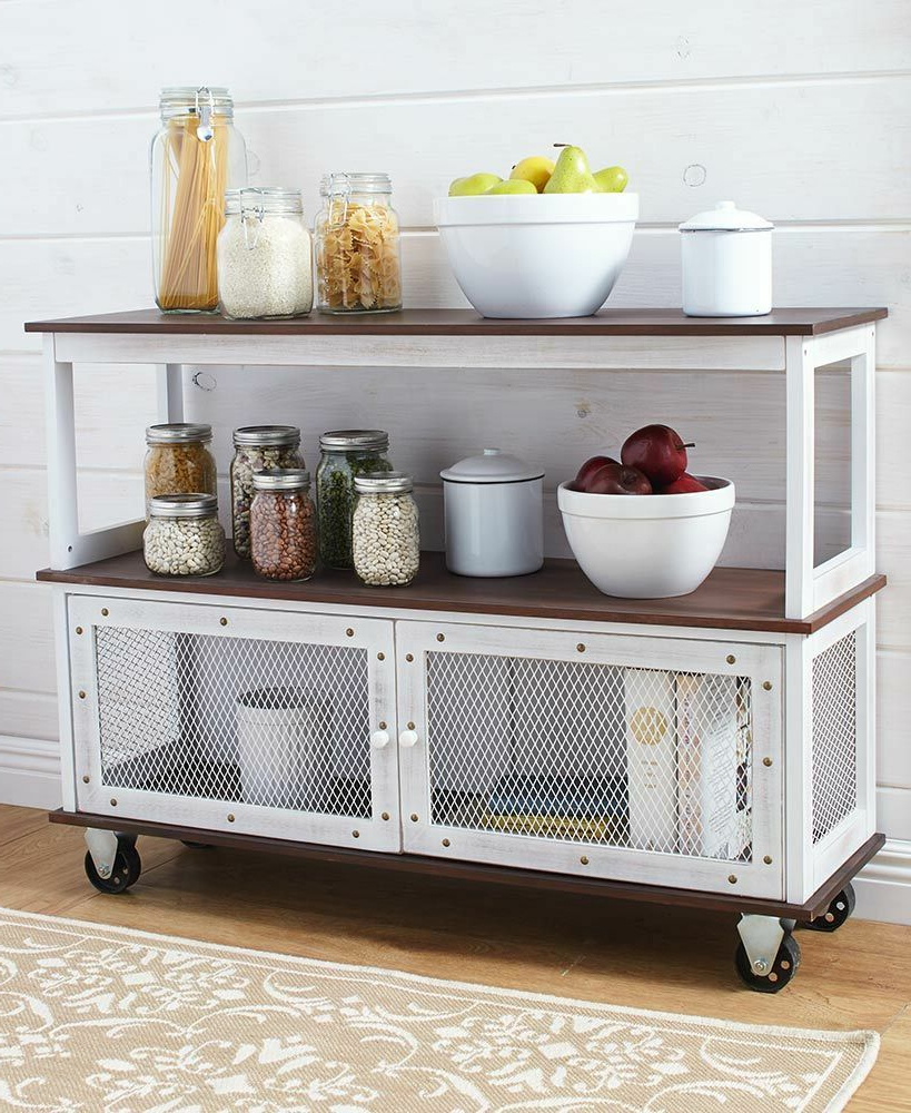 Details About Industrial Buffet Sideboard Modern Vintage Throughout Contemporary Rolling Buffets (View 11 of 20)