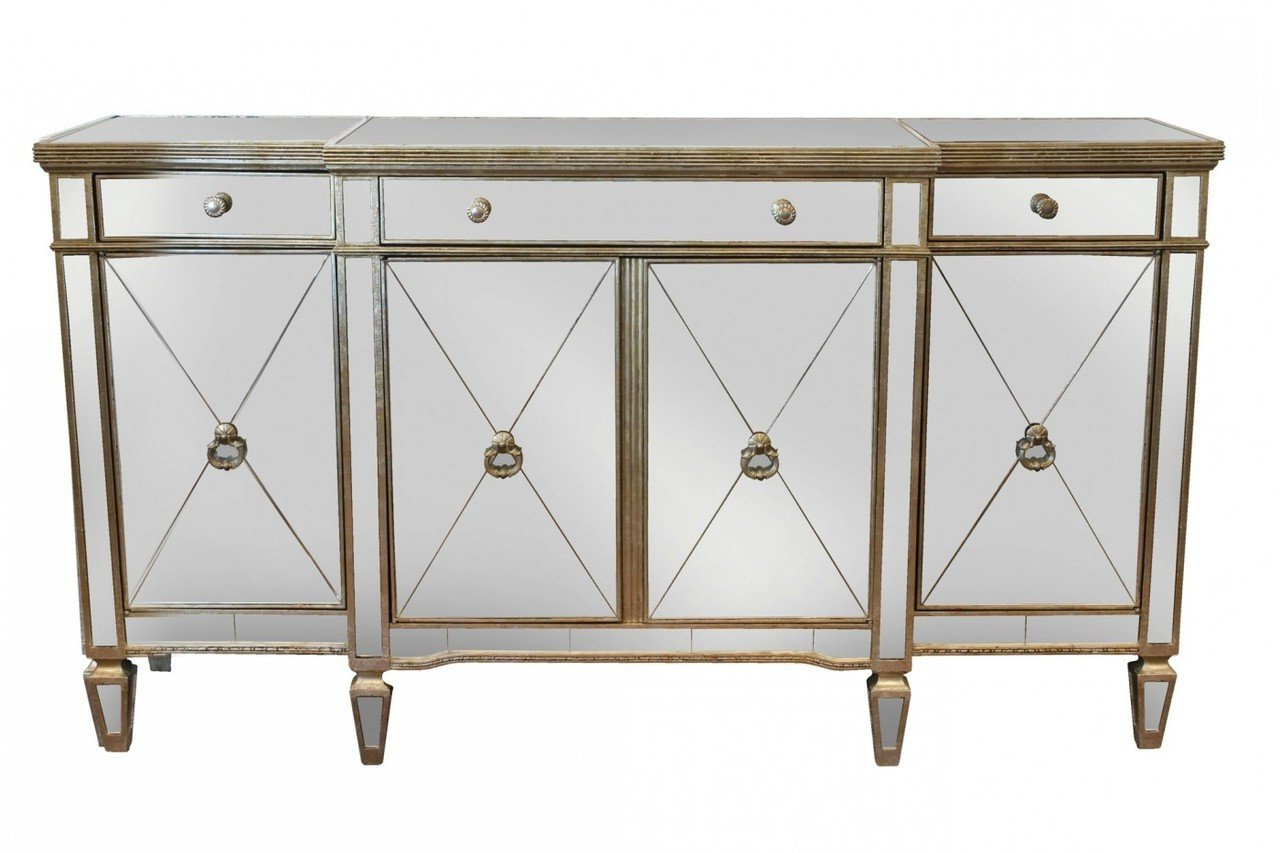 Details About Sofia Mirrored Buffet Table Antique Ds  41102 – New Throughout Mirrored Buffets (View 6 of 20)