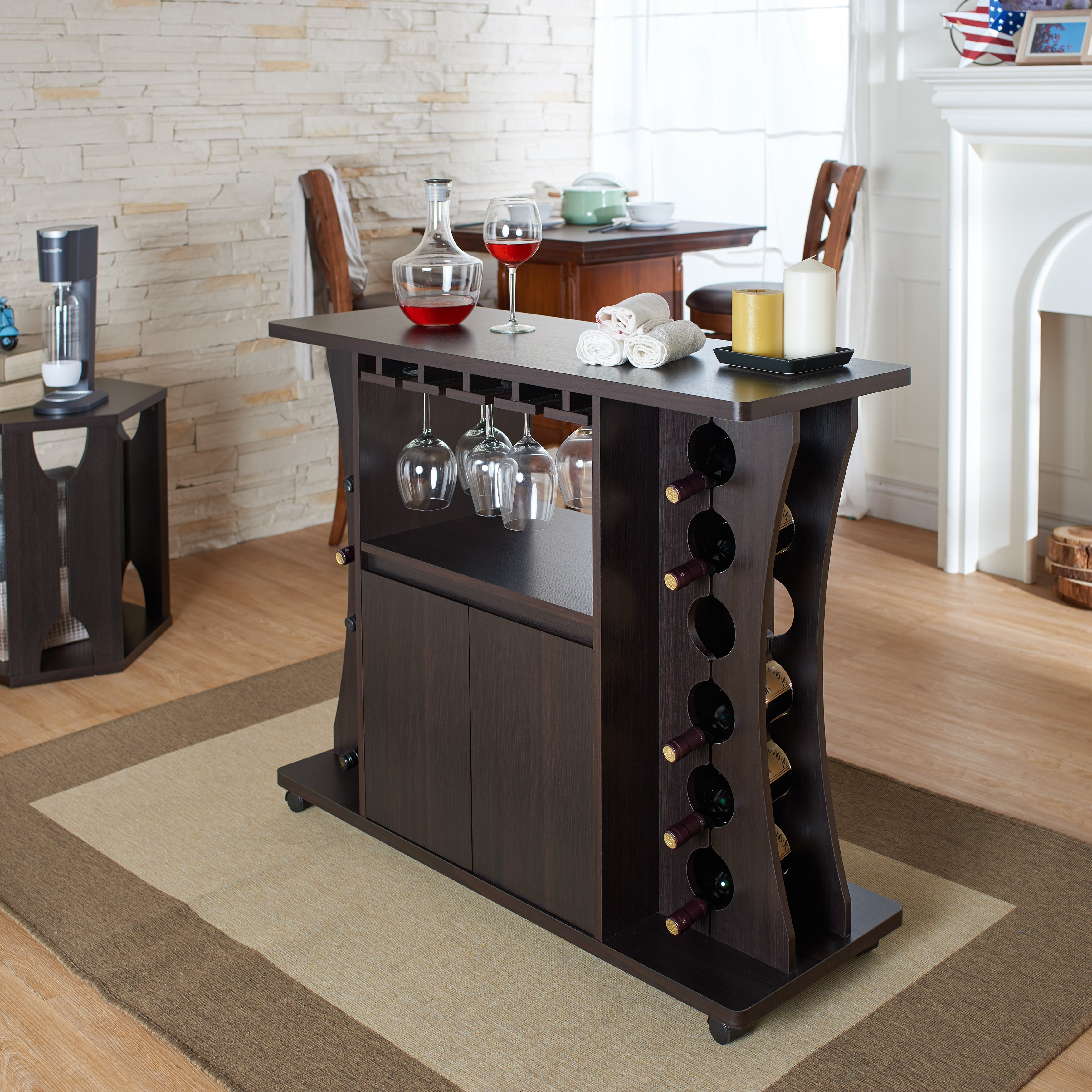 Details About Wine Bar Set 35.9X43.31X (View 7 of 20)