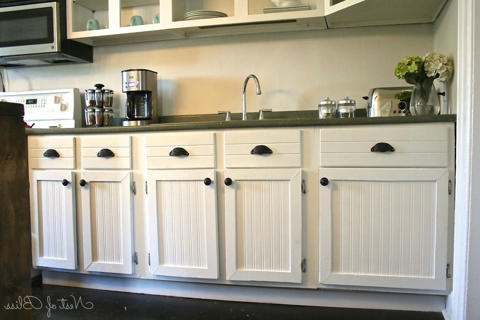 Diy Beadboard Wallpaper Cabinets – I Would Like To Do This Regarding White Beadboard Buffets (View 6 of 20)