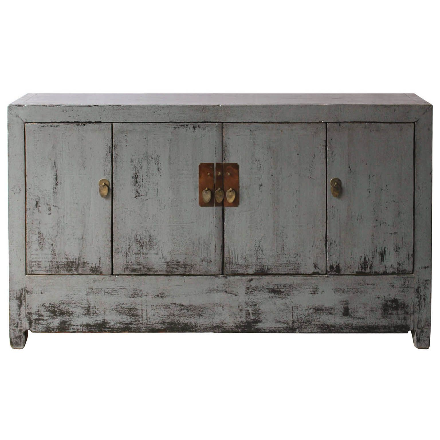 Dongbei Gray Sideboard   50 Pieces Of Gray Furniture Within 4 Door Lacquer Buffets (View 12 of 20)