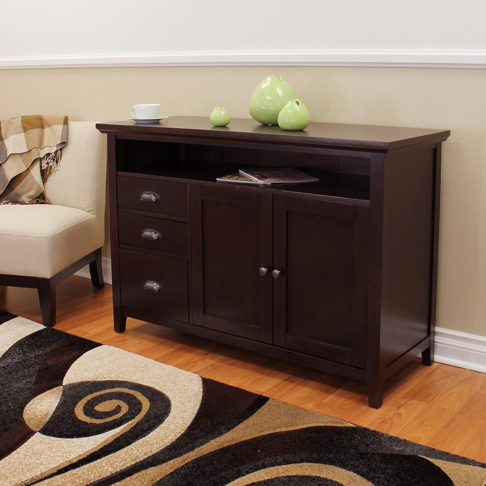 Donnieann Lindendale Espresso Sofa/buffet Table 707152 – The With Regard To Espresso Wood Multi Use Buffets (View 6 of 20)