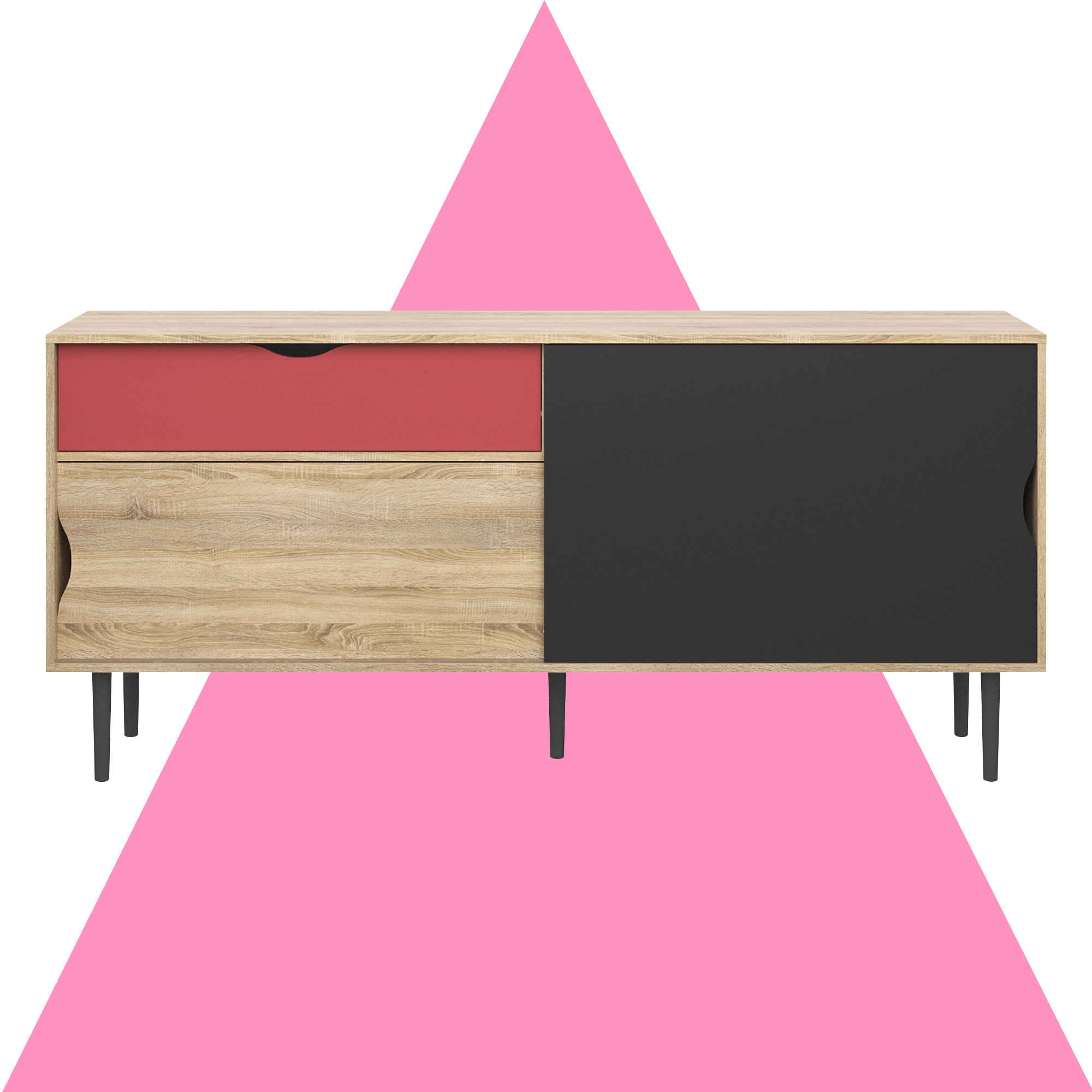 Dovray Buffet Table Throughout Pink And White Geometric Buffets (View 15 of 20)