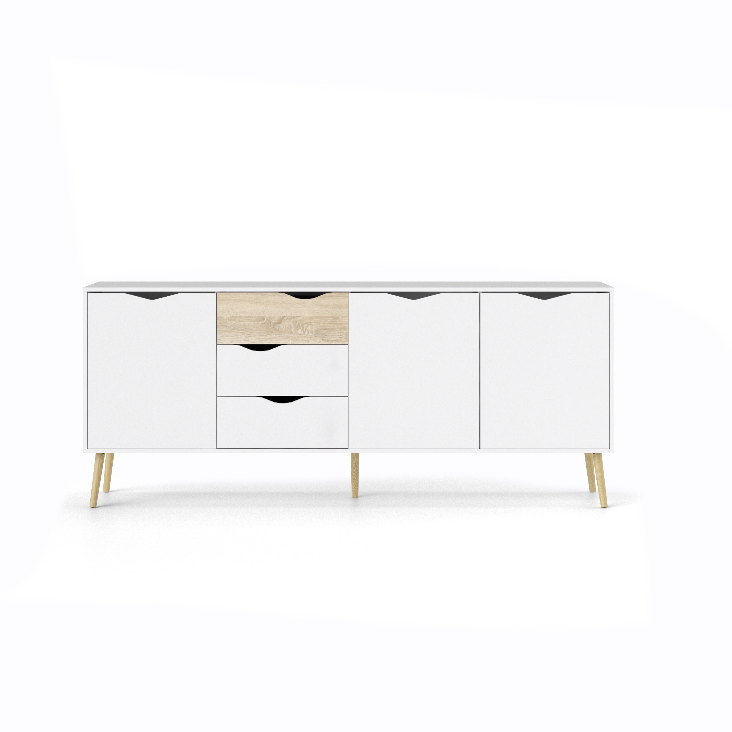 Dowler Buffet Table With Regard To Light White Oak Two Tone Modern Buffets (View 3 of 20)