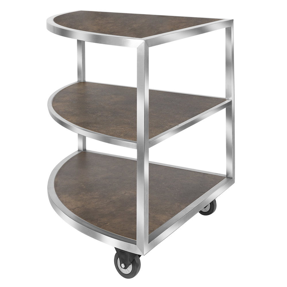"""Eastern Tabletop St5965Rs Hub Buffet 31 1/2"""" X 44 1/2"""" X 33"""" 3 Reversible  Shelf Corner Extension Table With 3 Shelf Corner Buffets (Gallery 7 of 20)"""