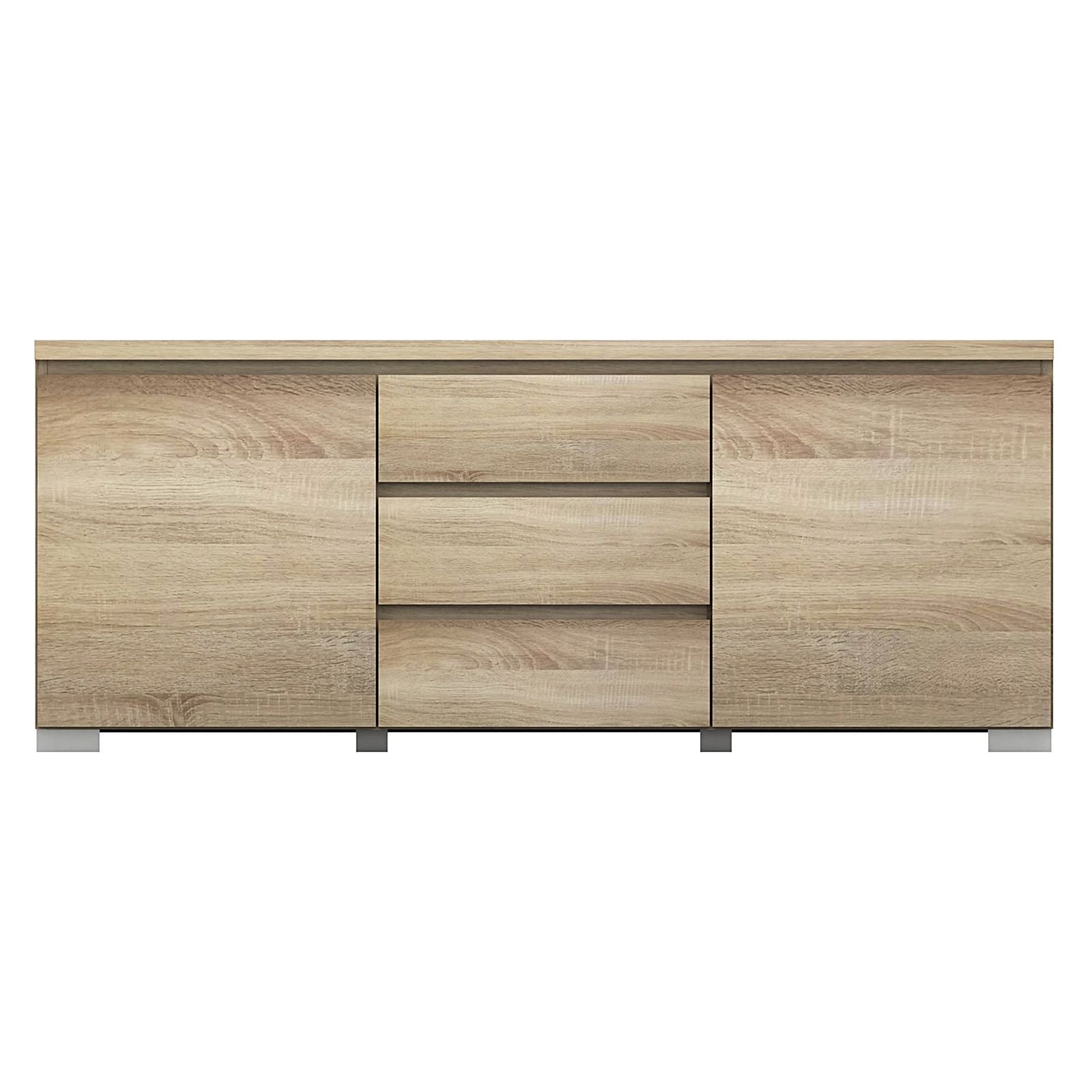 Elara Buffet, Light Sonoma Oak In Togal Contemporary White/light Oak Dining Buffets (View 9 of 20)