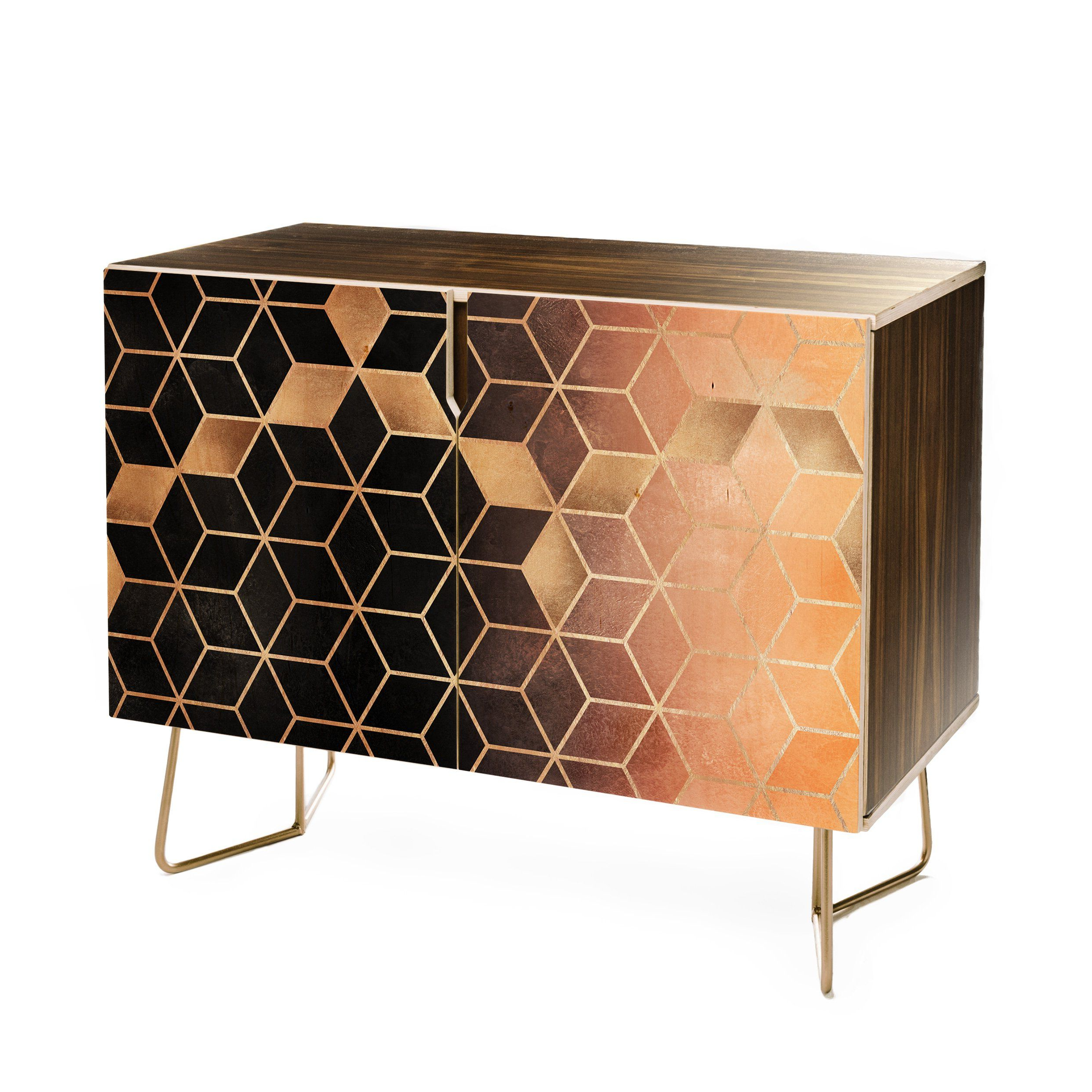 Elisabeth Fredriksson Ombre Cubes Credenza In 2019 Inside Blue Hexagons And Diamonds Credenzas (Gallery 19 of 20)
