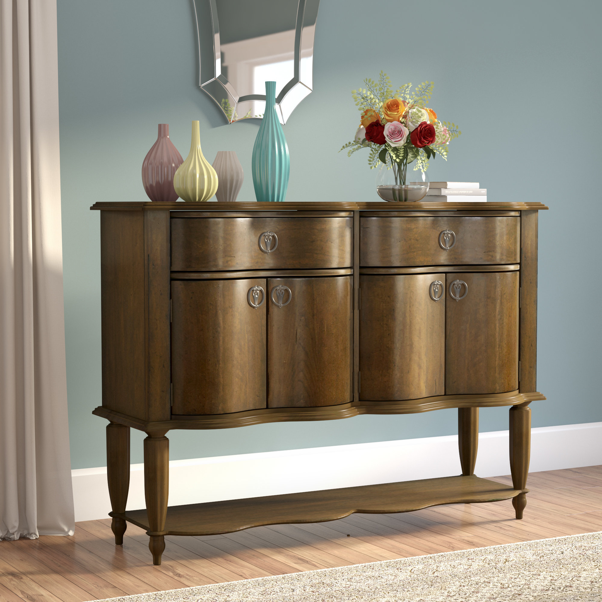 Elwood Key Buffet Table Inside Solid And Composite Wood Buffets In Cappuccino Finish (View 15 of 20)