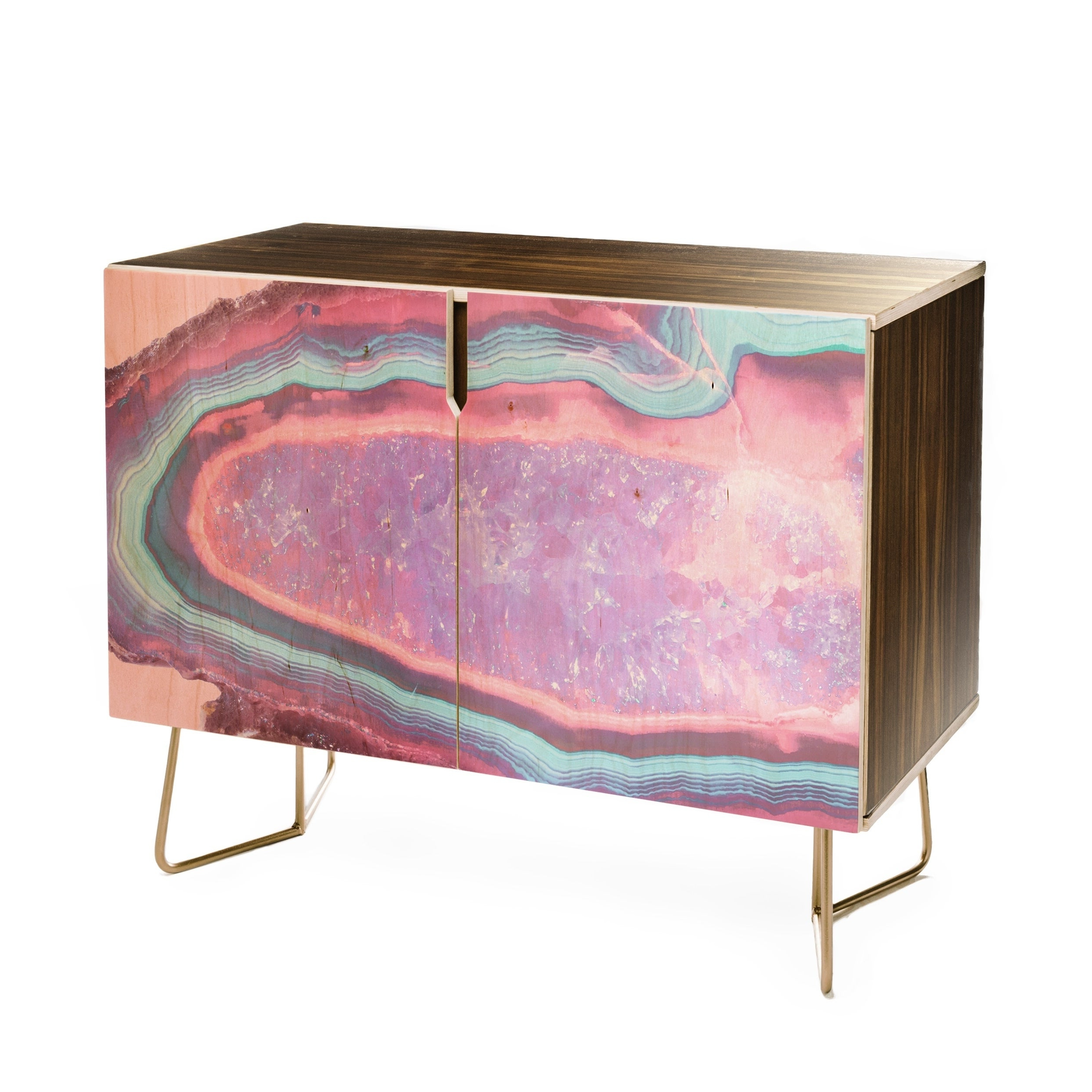 Emanuela Carratoni Serenity And Rose Agate With Amethyst Crystals Credenza With Pale Pink Agate Wood Credenzas (Gallery 8 of 20)