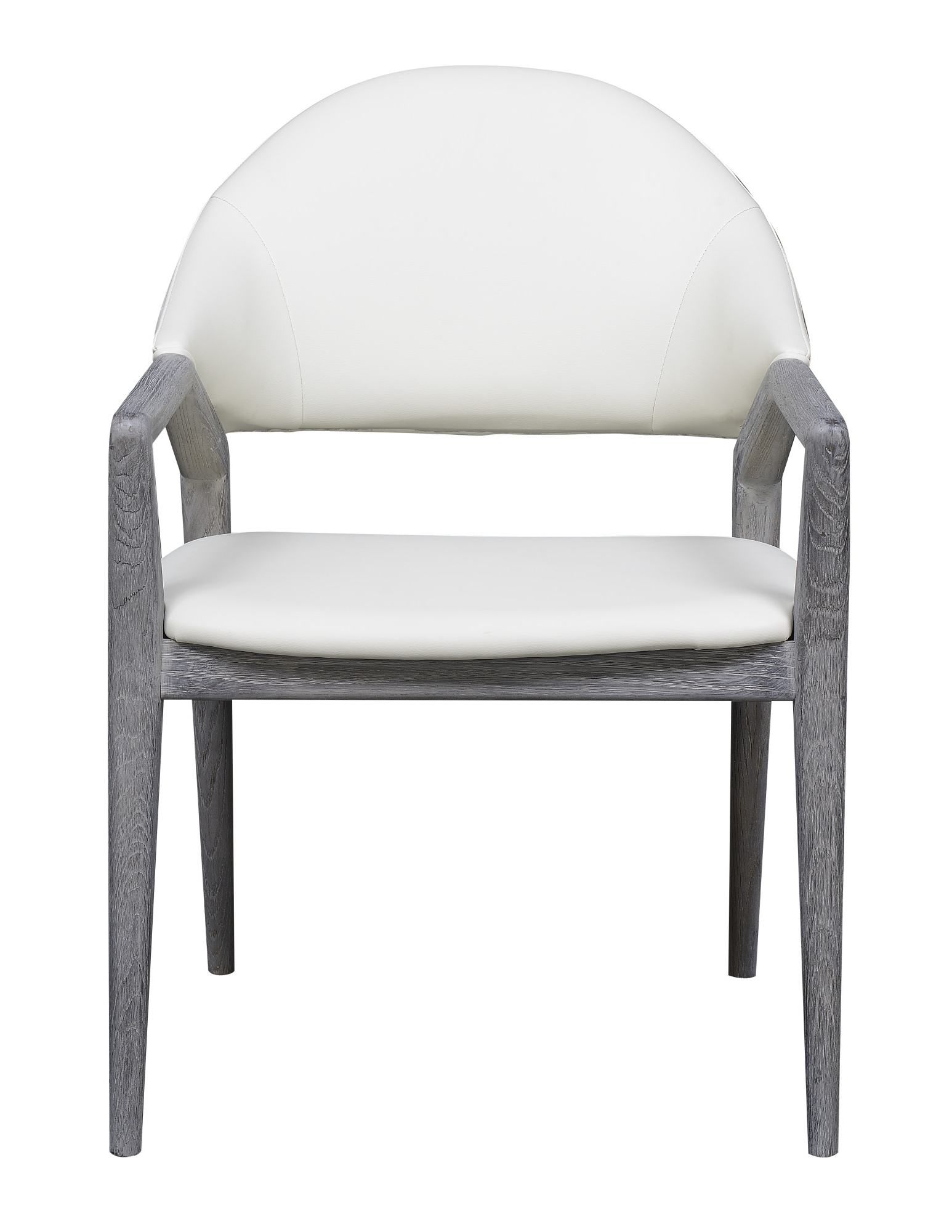 Emerald Home Carrera Slate Gray And Platinum White Dining Arm Chair With  Faux Leather Upholstery And Curved Wood Frame Regarding Carrera Contemporary Black Dining Buffets (View 13 of 20)