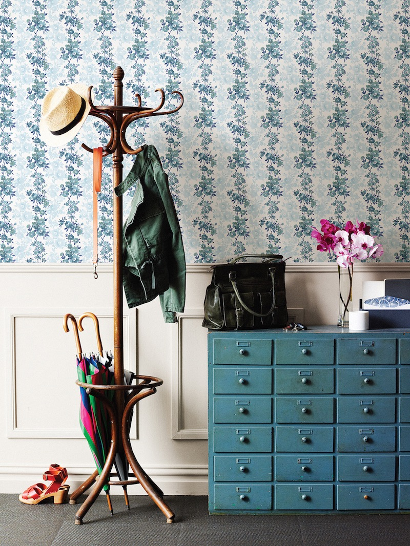 Enter To Win: Modern Wallpaper From Brewster's A Street With Elephant Damask Paloma Credenzas (Gallery 15 of 20)
