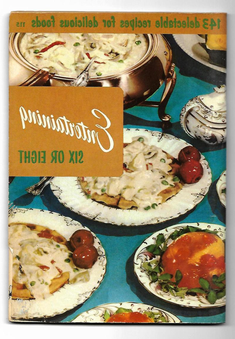 Entertaining Recipes, Mid Century Cookbook, Culinary Arts Institute, Check  List, Buffet, Luncheon, Parties Teas, Paper Ephemera, 1950S Book Inside Six Stripes Buffets (Gallery 20 of 20)