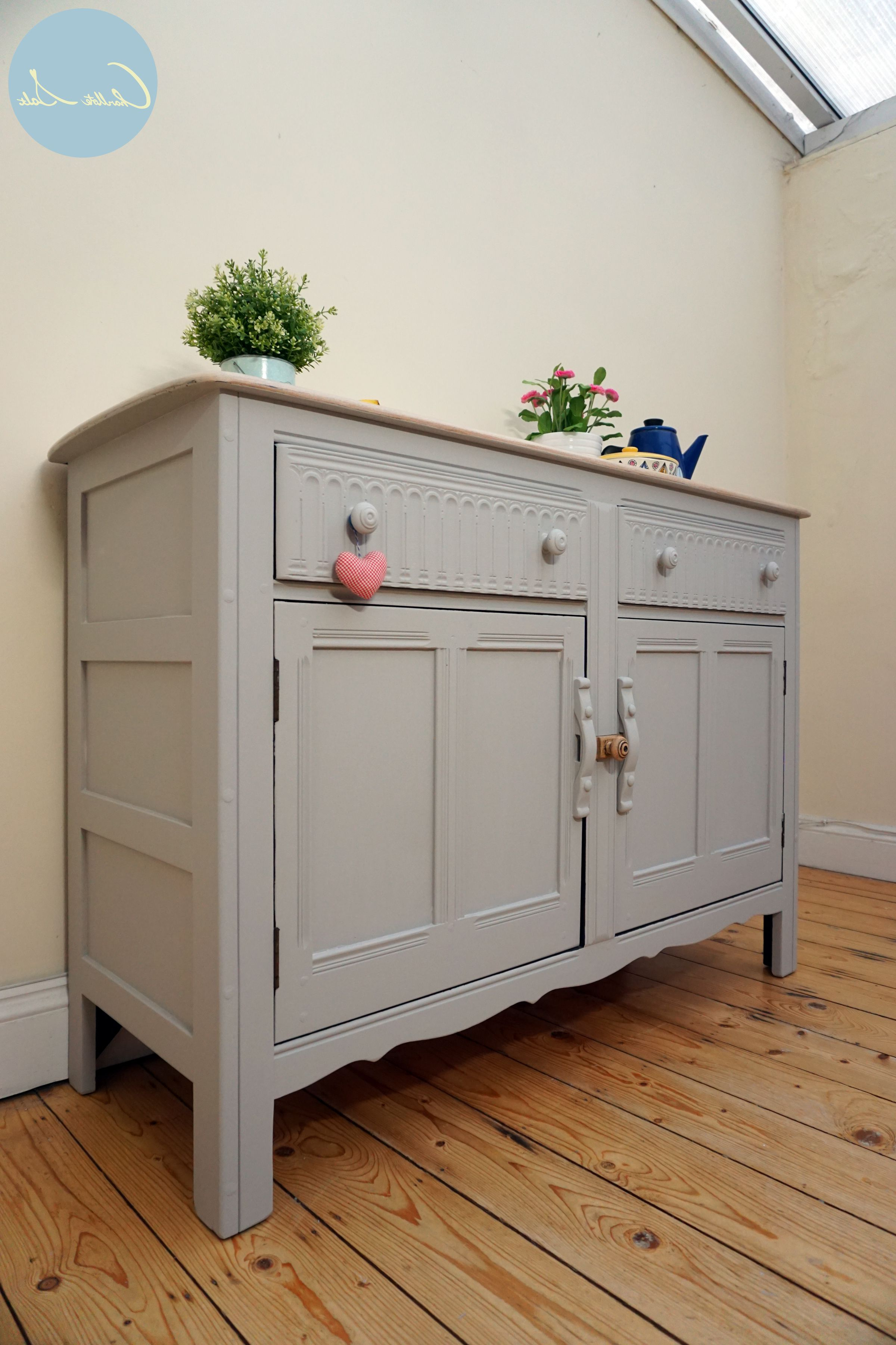 Ercol Sideboard Is Painted In Laura Ashley Dark Dove Grey Within White And Grey Sideboards (Gallery 16 of 20)