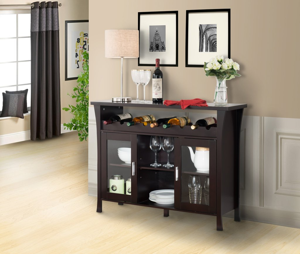 Espresso Buffet Table Style — Furniture Ideas : Decorating With Modern Espresso Storage Buffets (Gallery 18 of 20)