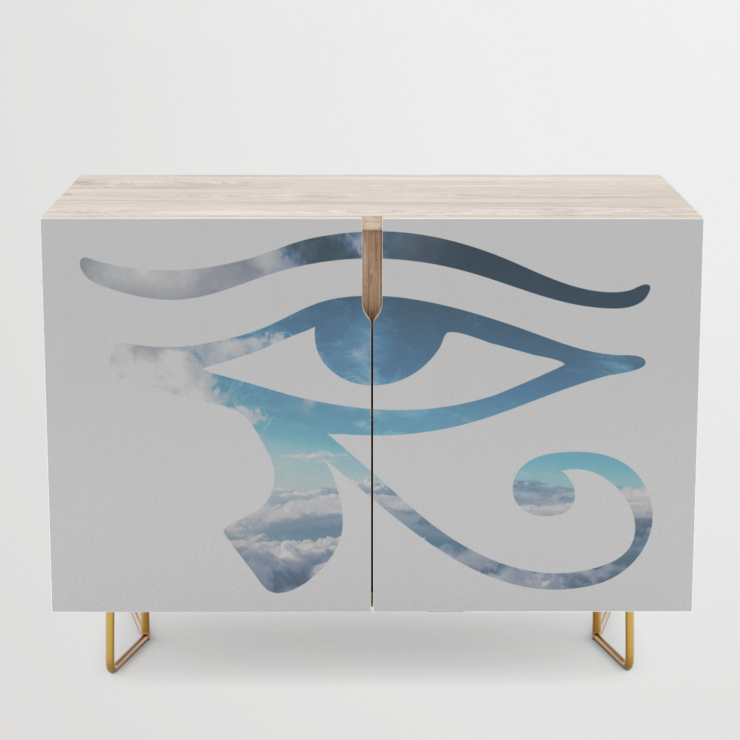 Eye Of Horus Sky Background Credenza Regarding Turquoise Skies Credenzas (View 15 of 20)