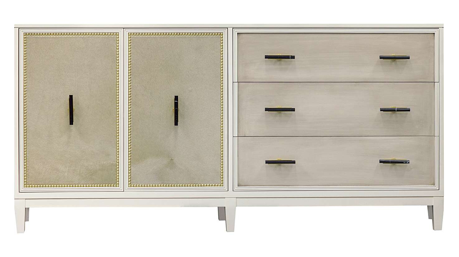 """Facets 72"""" Credenza, Three Drawer, Two Door 
