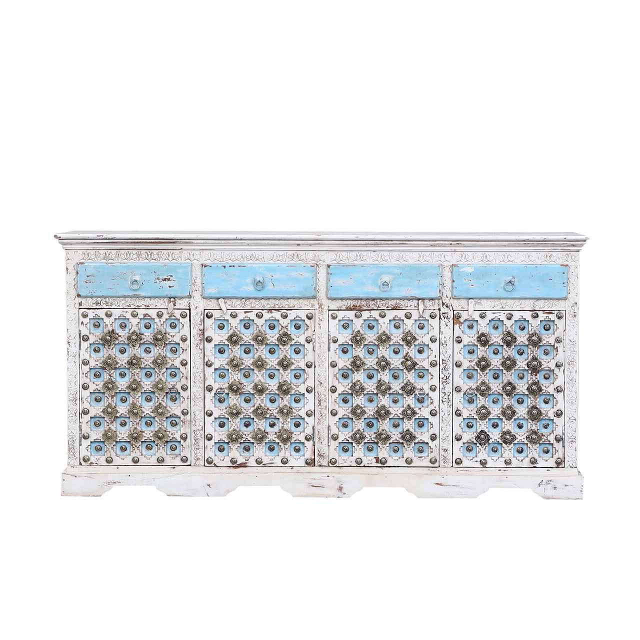 Farmhouse Heritage Brass Accent Large Sideboard Buffets In Grey Wooden Accent Buffets (View 16 of 20)
