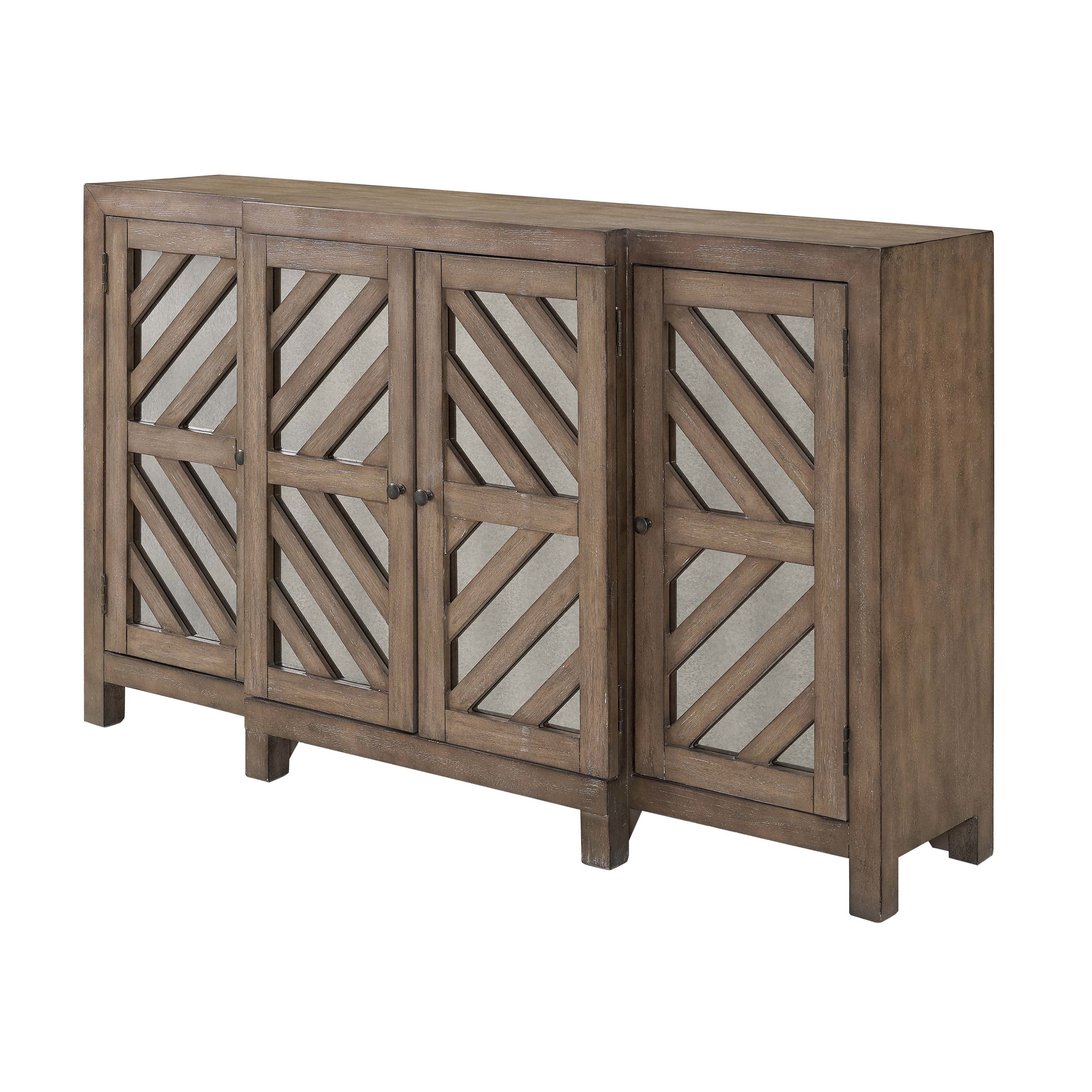Farmhouse & Rustic Sideboards & Buffets | Birch Lane Pertaining To Contemporary Wooden Buffets With Four Open Compartments And Metal Tapered Legs (View 11 of 20)