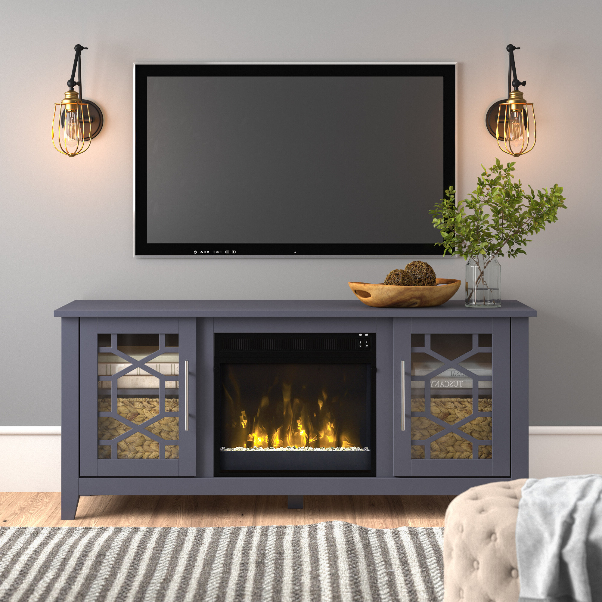 Farmhouse & Rustic Tv Stands | Birch Lane Within Madison Park Rachel Grey Media Credenzas (View 3 of 20)
