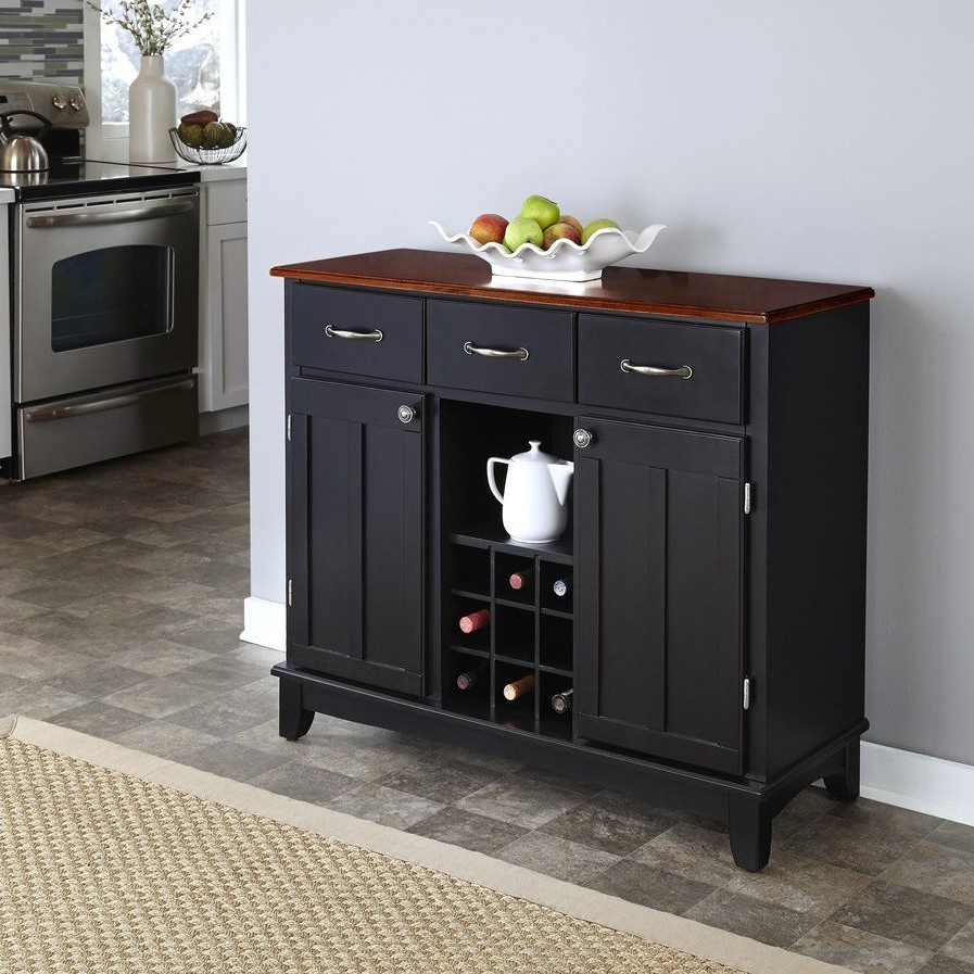 Ferris 3 Drawer Wood Server   Brickell Plans   Buffet Server Intended For 3 Drawer Black Storage Buffets (View 3 of 20)