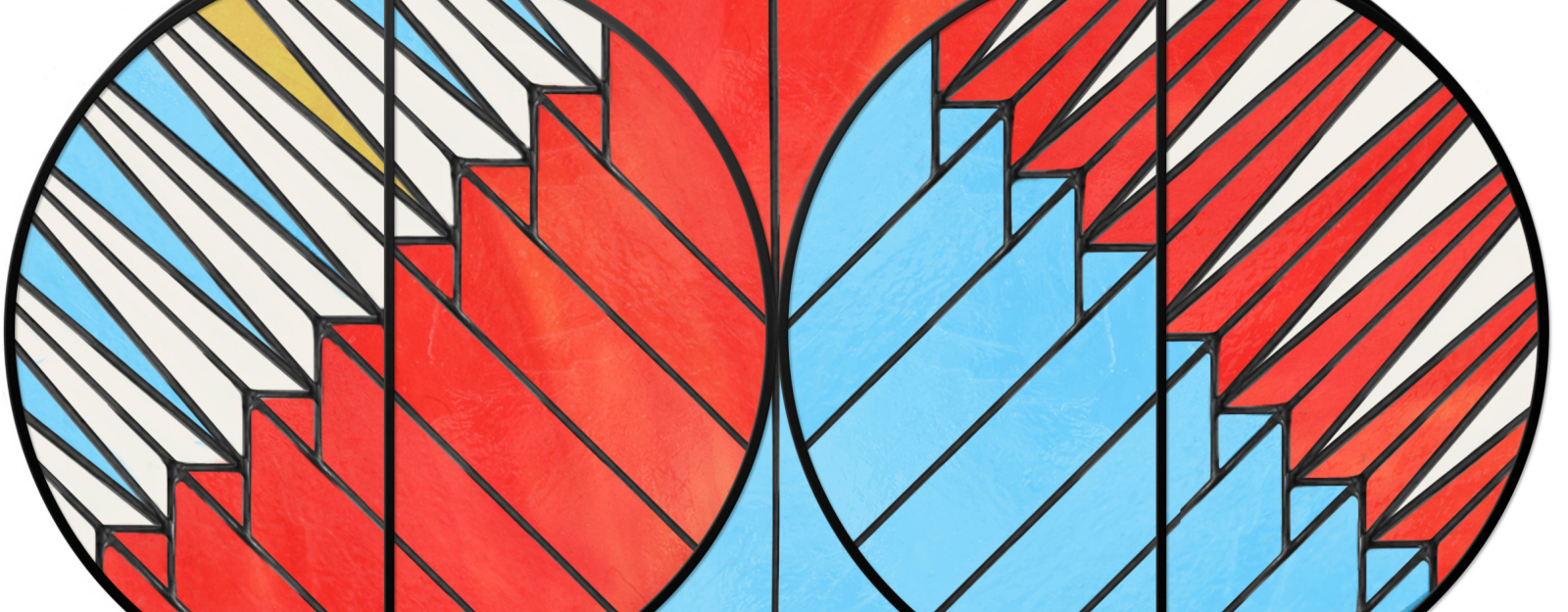Finding A Contemporary Aesthetic Within An Ancient Process Within Blue Stained Glass Credenzas (View 6 of 20)