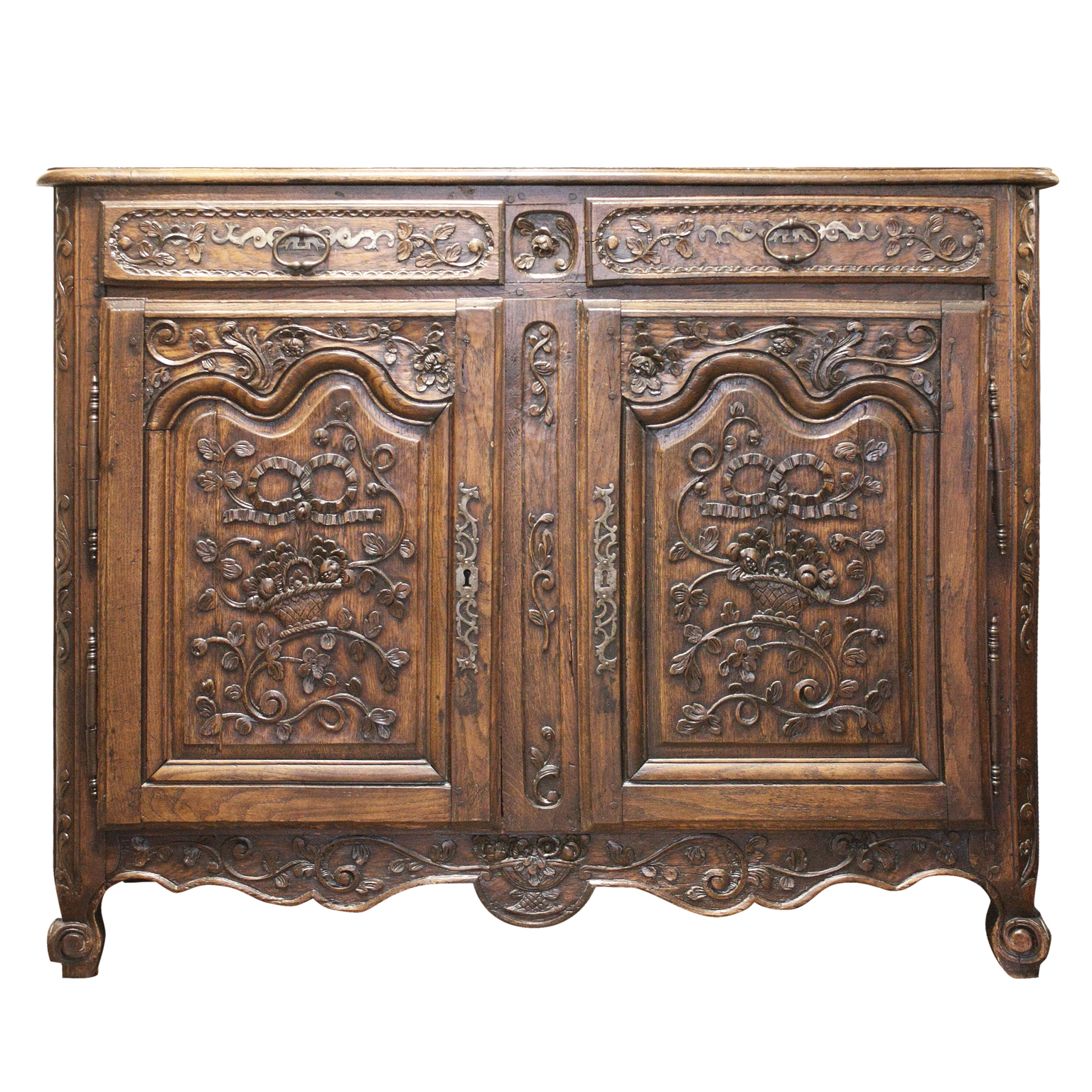 Finely Carved French Oak Buffet, 18Th C (View 13 of 20)