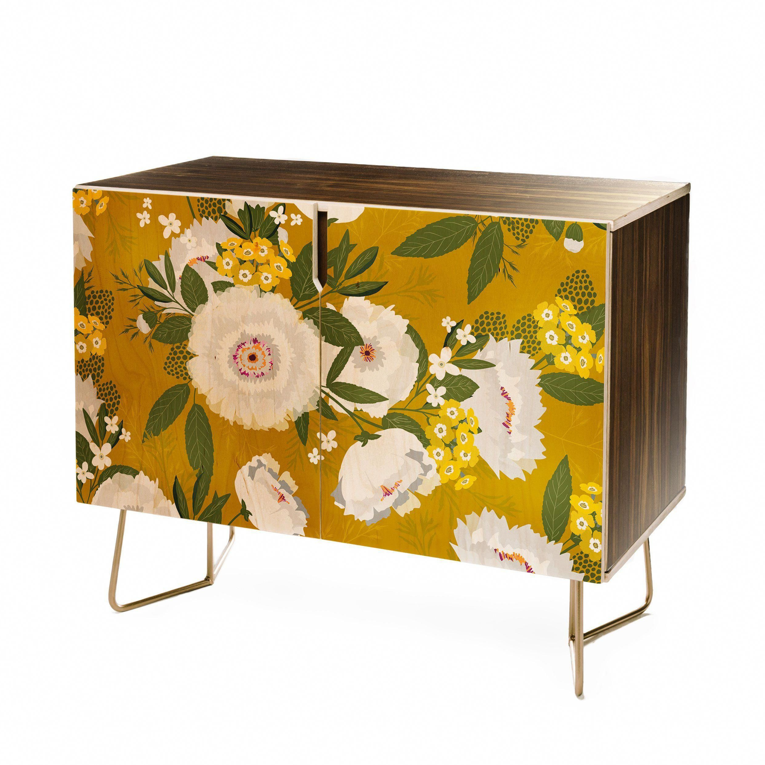 Fleurette Midday Credenza Iveta Abolina With Floral Blush Yellow Credenzas (View 8 of 20)