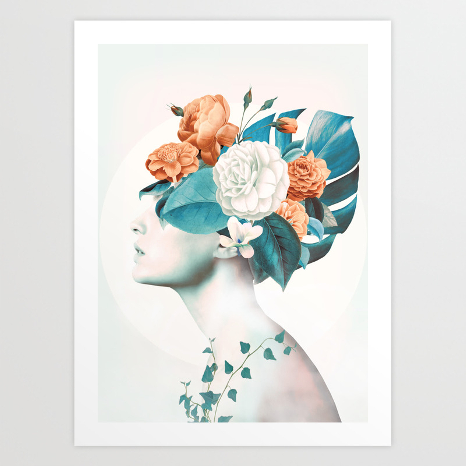 Floral Beauty 2A Art Print With Regard To Floral Beauty Credenzas (View 7 of 20)