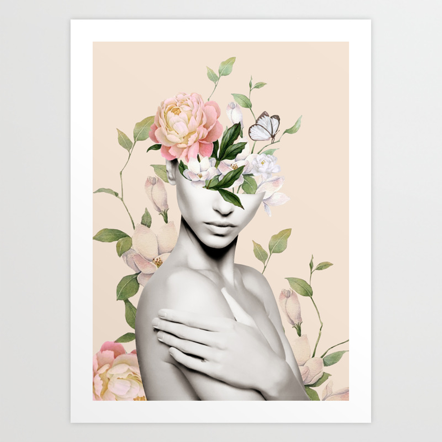 Floral Beauty 6 Art Print Inside Floral Beauty Credenzas (View 10 of 20)