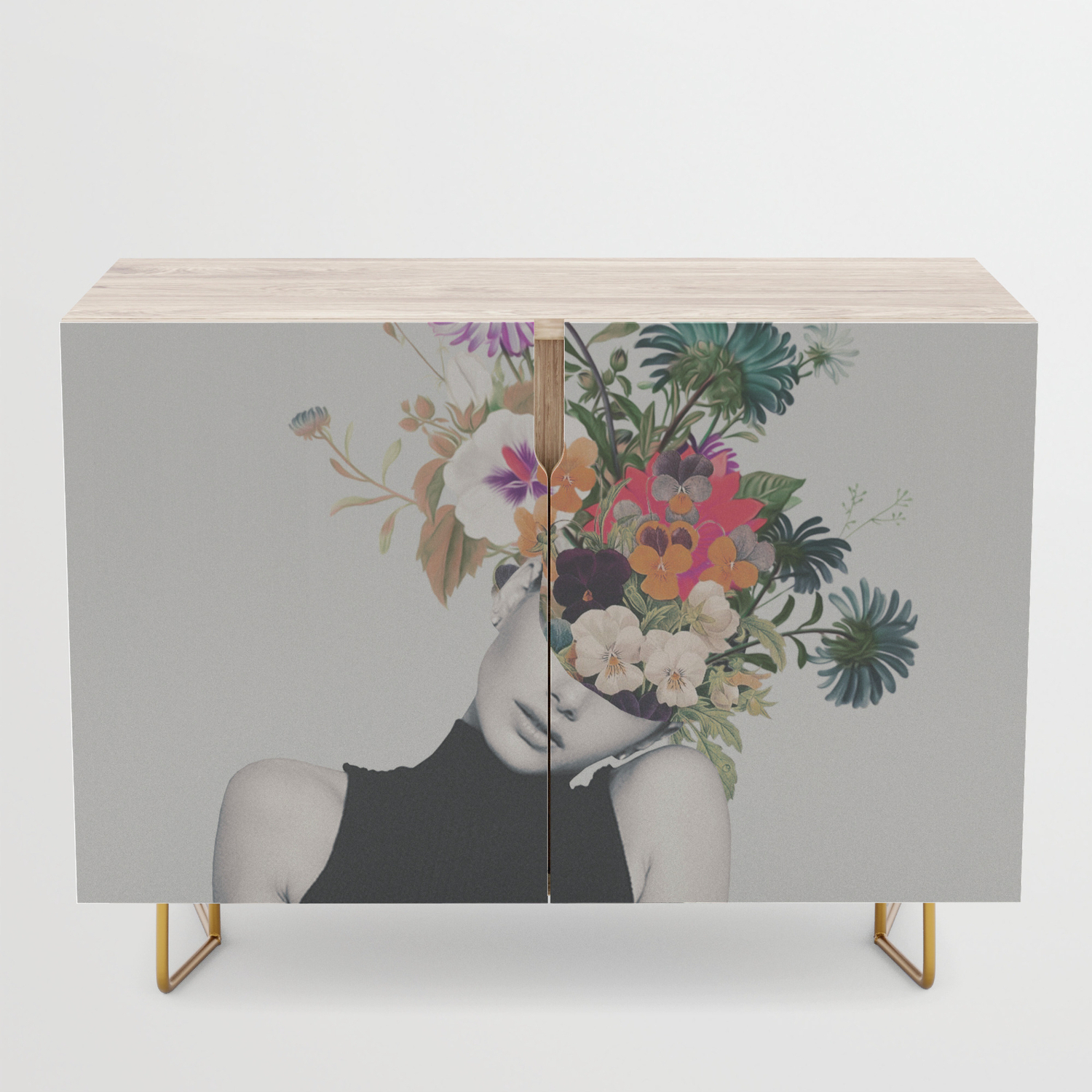 Floral Beauty Credenza Throughout Floral Beauty Credenzas (View 1 of 20)