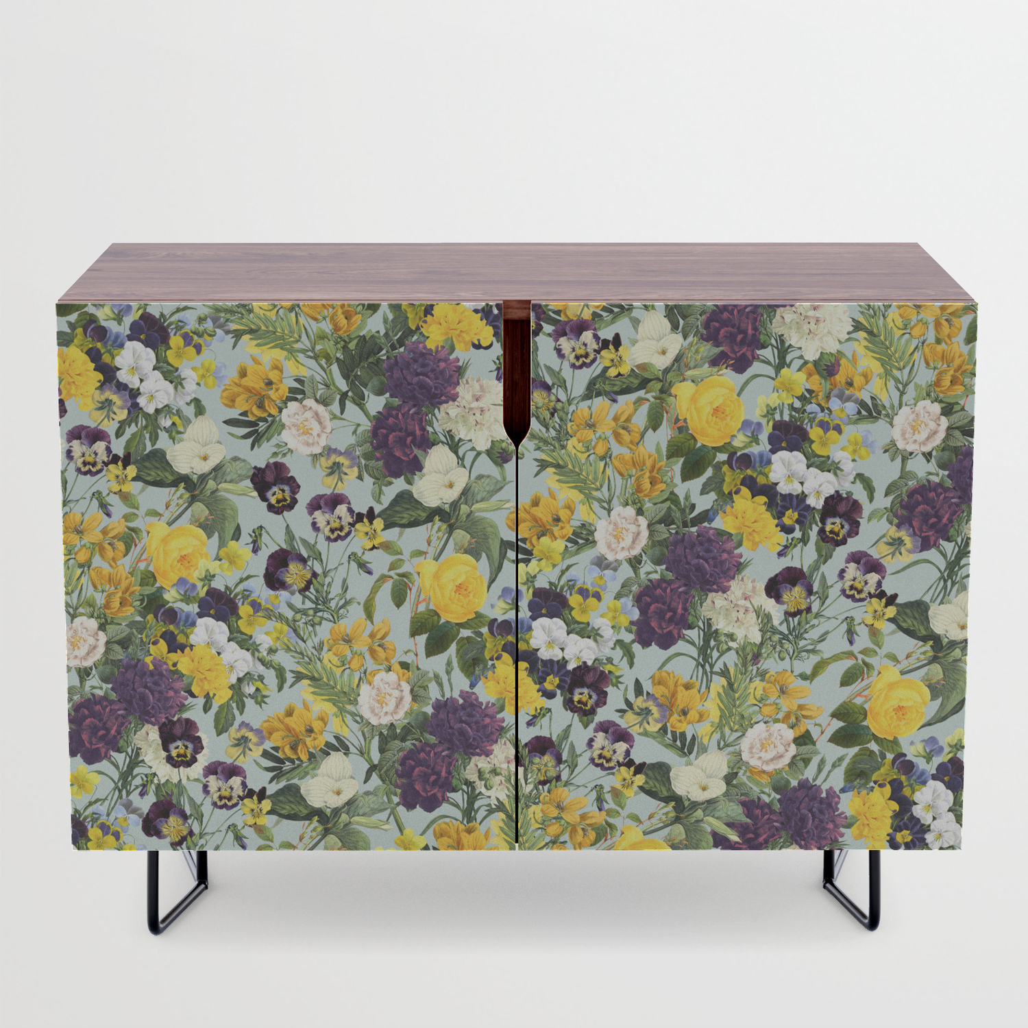 Floral C Credenza Pertaining To Purple Floral Credenzas (View 7 of 20)