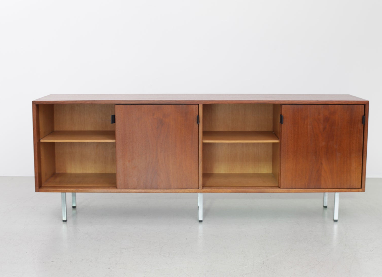 Florence Knoll Credenza Sideboard Walnut With Leather Pulls Regarding Retro Holistic Credenzas (View 10 of 20)
