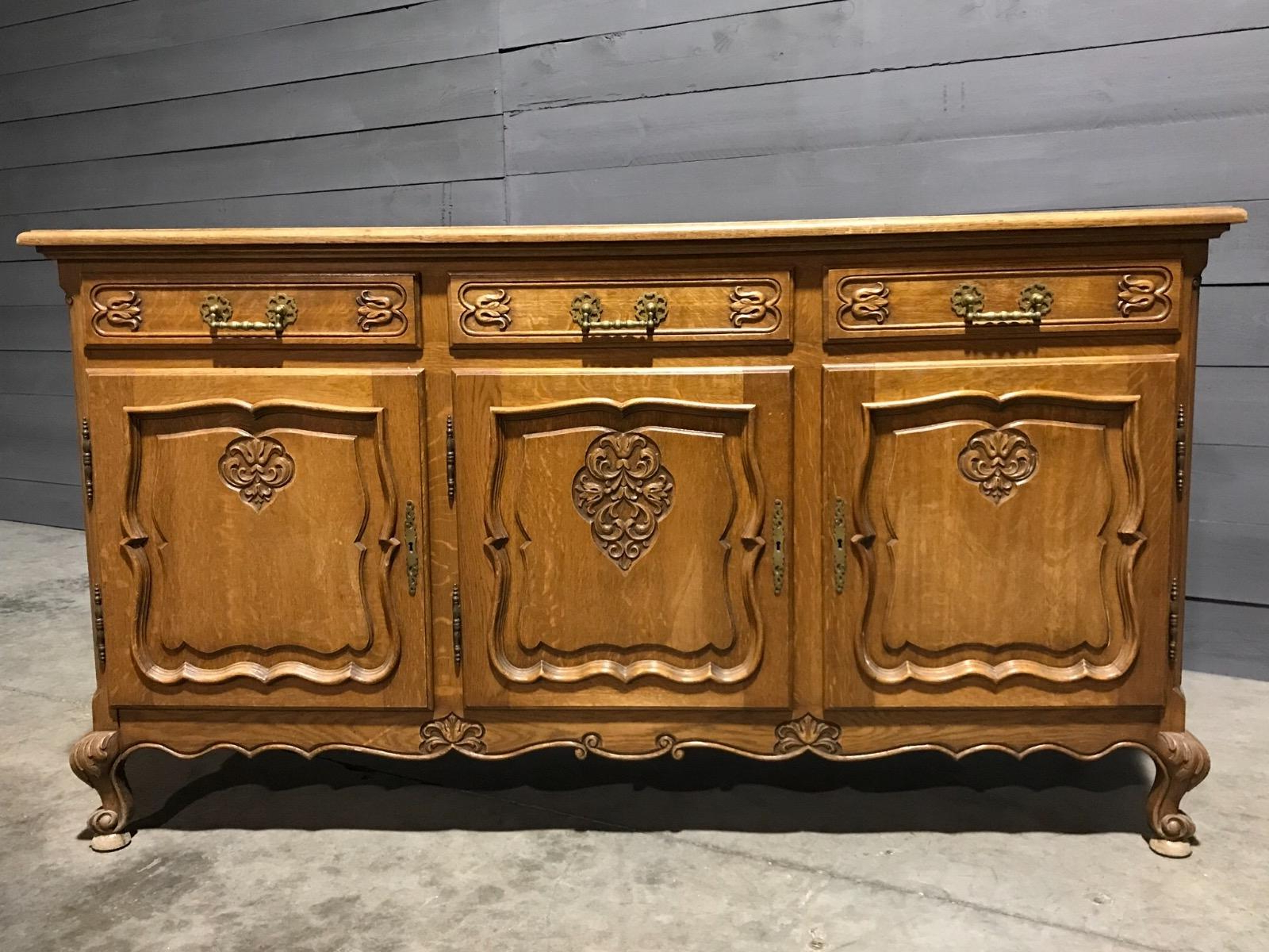 French Country Oak Buffet – Buffets – Furniture – Antiques For French Oak Buffets (View 14 of 20)