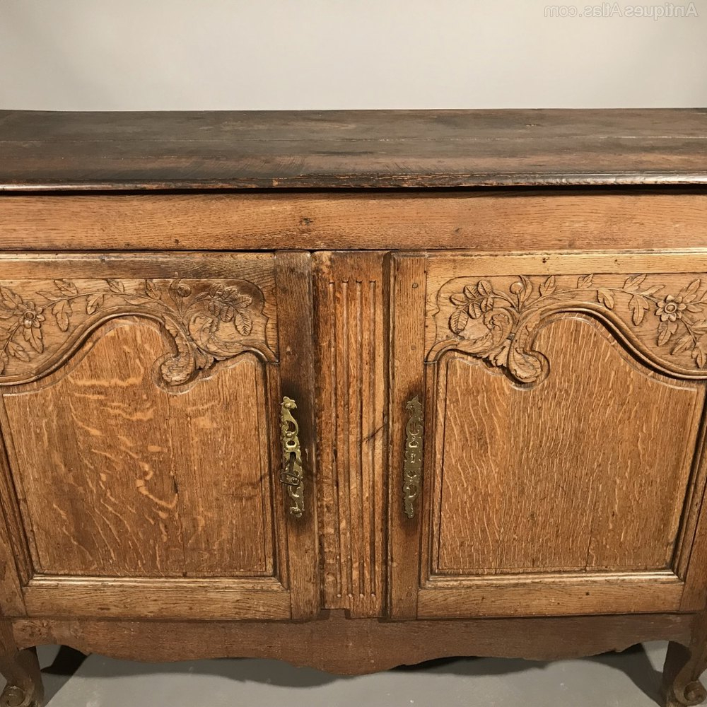 French Oak Buffet Sideboard – Antiques Atlas Pertaining To French Oak Buffets (View 15 of 20)