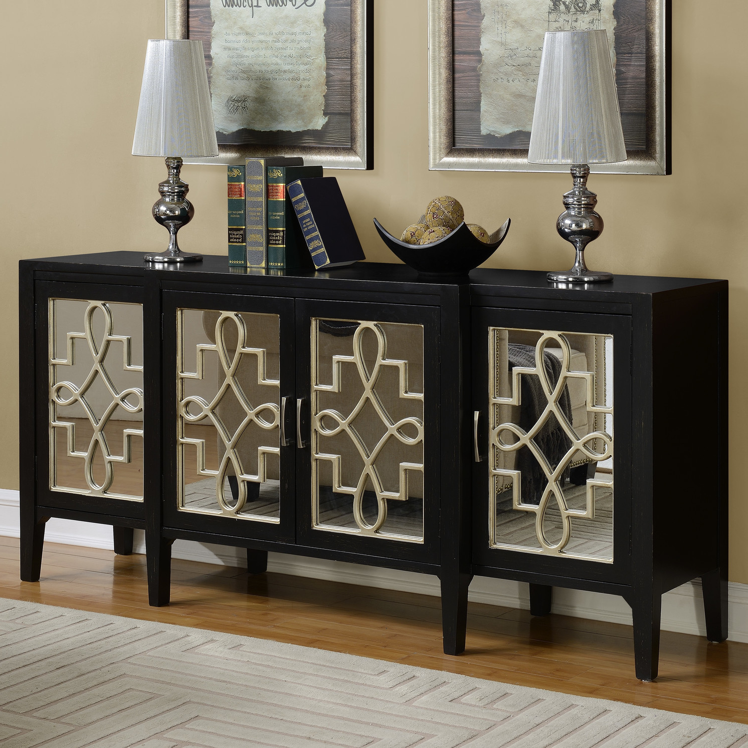 Furniture: Get Extra Dining Room Storage With Great Buffet Inside Mirrored Buffets (View 7 of 20)