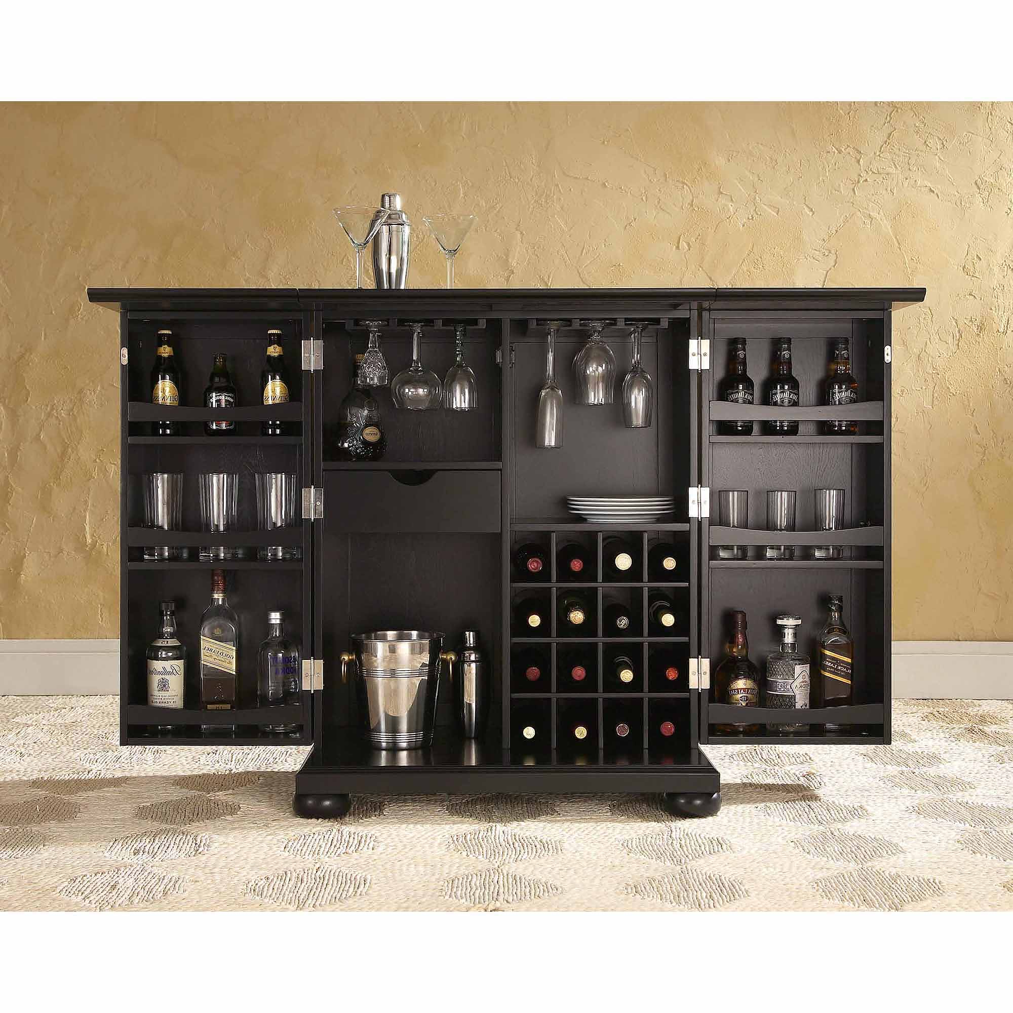 Furniture Of America Alton Modern Multi Storage Buffet, Espresso In Espresso Wood Multi Use Buffets (View 7 of 20)