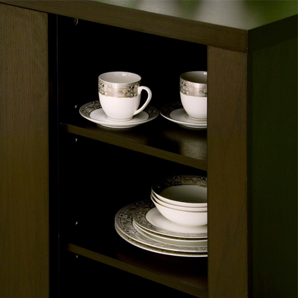 Furniture Of America Delanore Cappuccino Buffet Id 11423 For Cappuccino Finished Buffets (View 17 of 20)