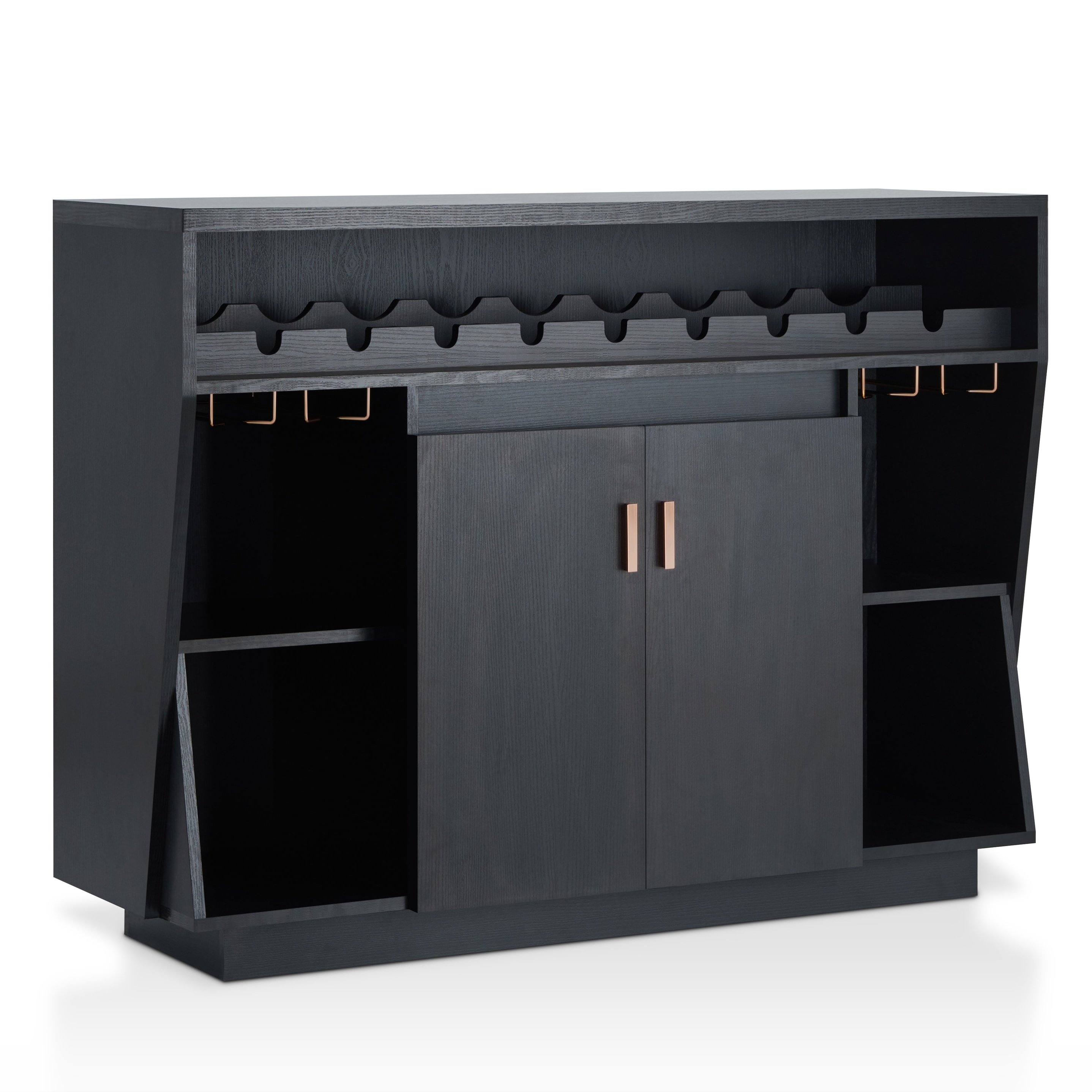 Furniture Of America Gergich Contemporary 47 Inch Black Dining Buffetfoa In Contemporary Black Dining Buffets (View 9 of 20)